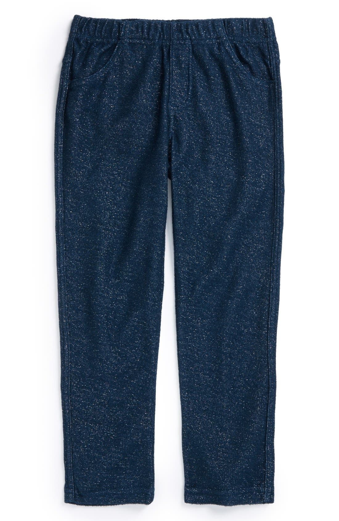 Main Image - Tea Collection 'Sparkle' French Terry Pants (Little Girls & Big Girls)