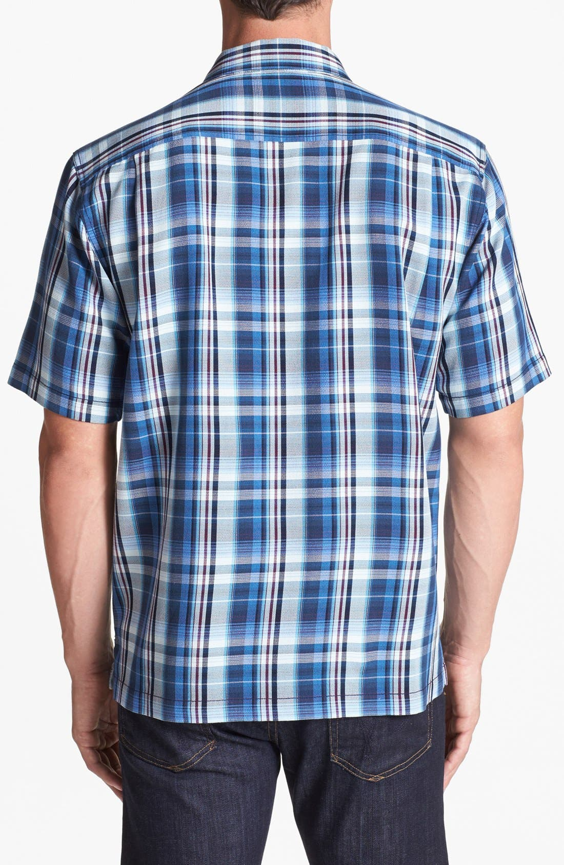 Alternate Image 2  - Tommy Bahama 'Ocean Abyss' Silk Campshirt (Big & Tall)