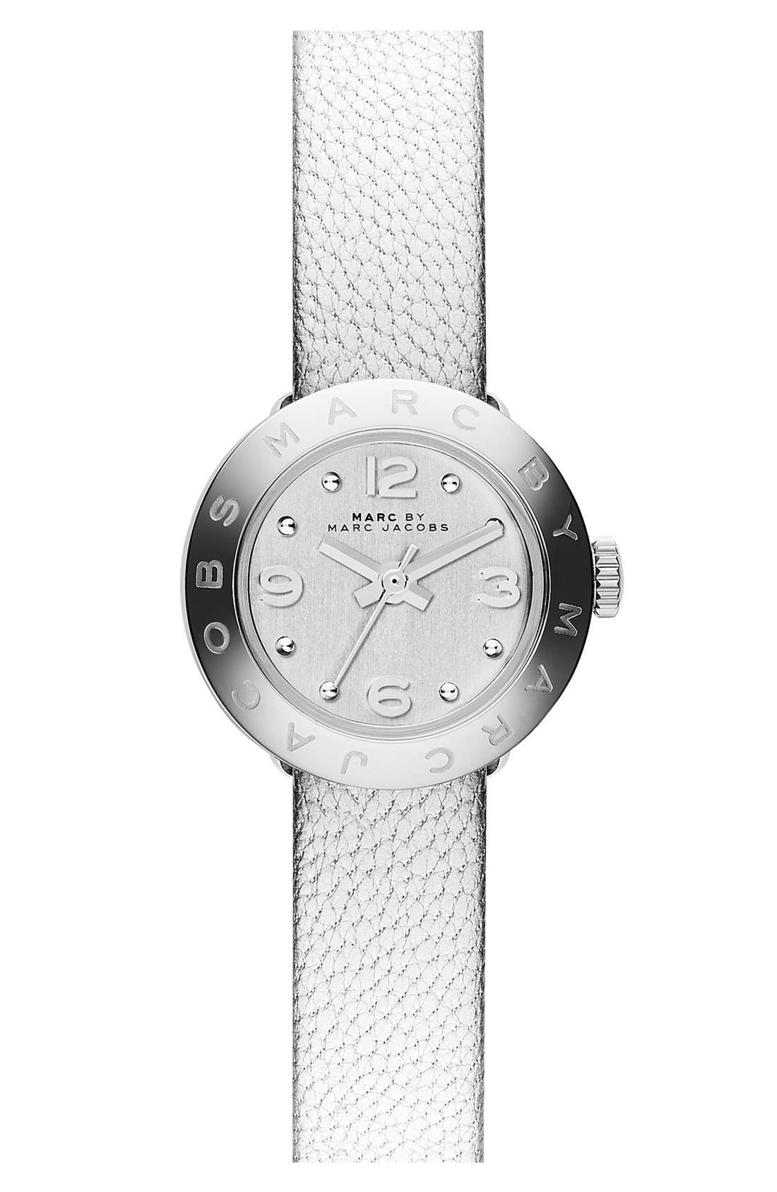 Alternate Image 2  - MARC BY MARC JACOBS 'Amy Dinky' Leather Strap Watch Set, 20mm
