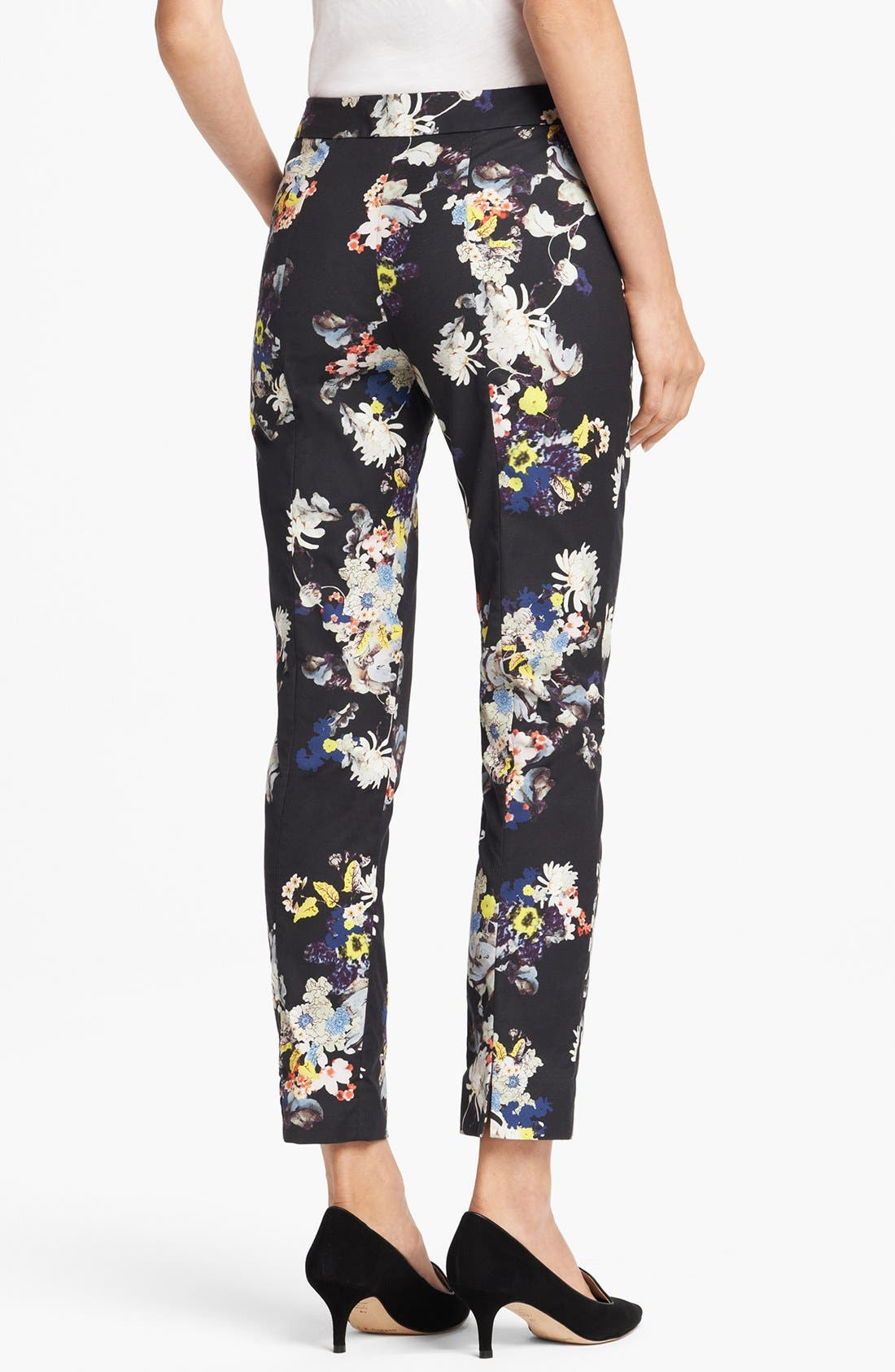 Alternate Image 2  - Erdem Slim Garden Print Trousers