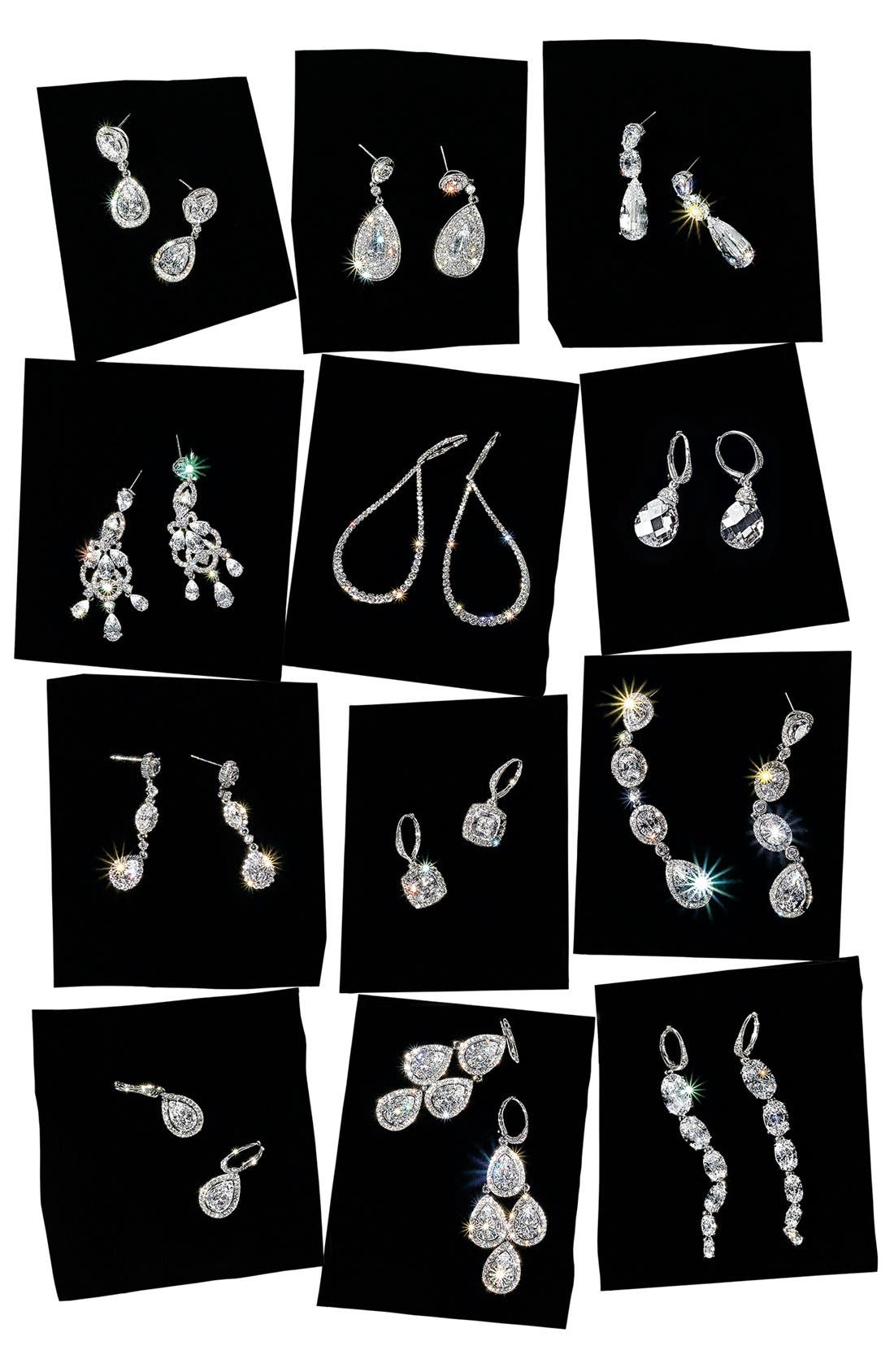 Alternate Image 3  - Nadri Cubic Zirconia Linear Earrings (Nordstrom Exclusive)