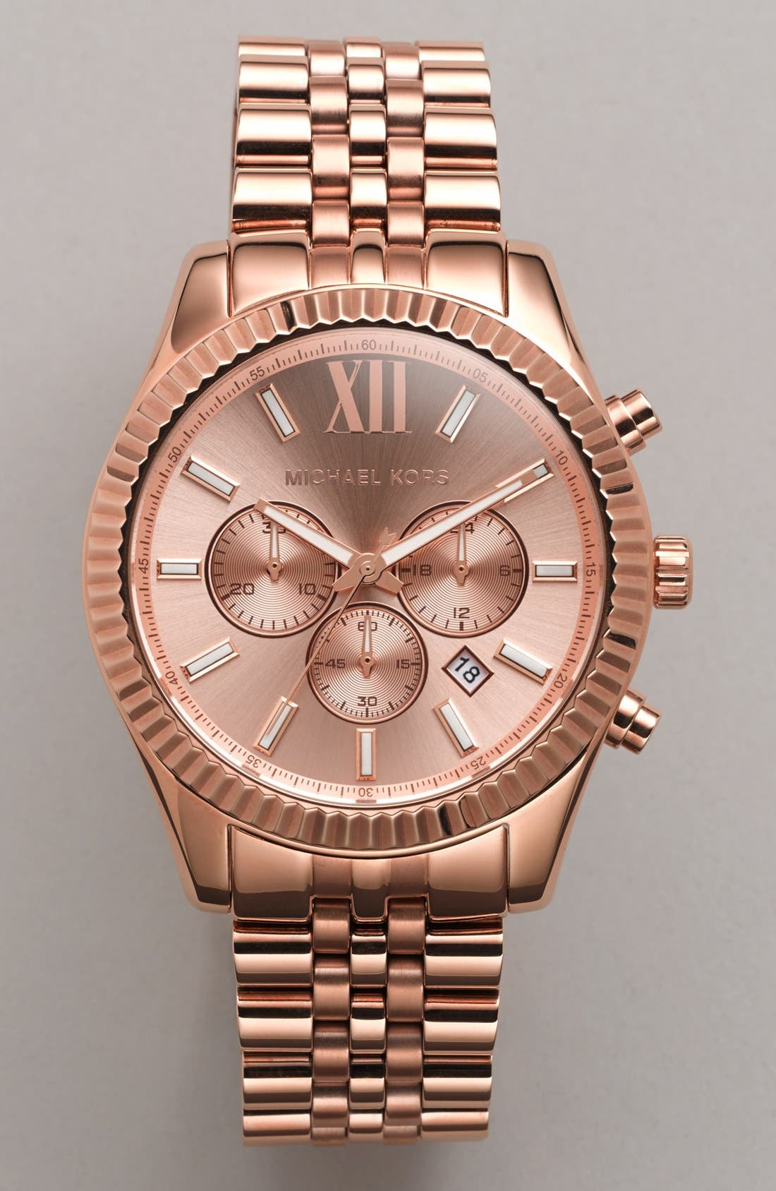 Alternate Image 5  - Michael Kors 'Large Lexington' Chronograph Bracelet Watch, 45mm