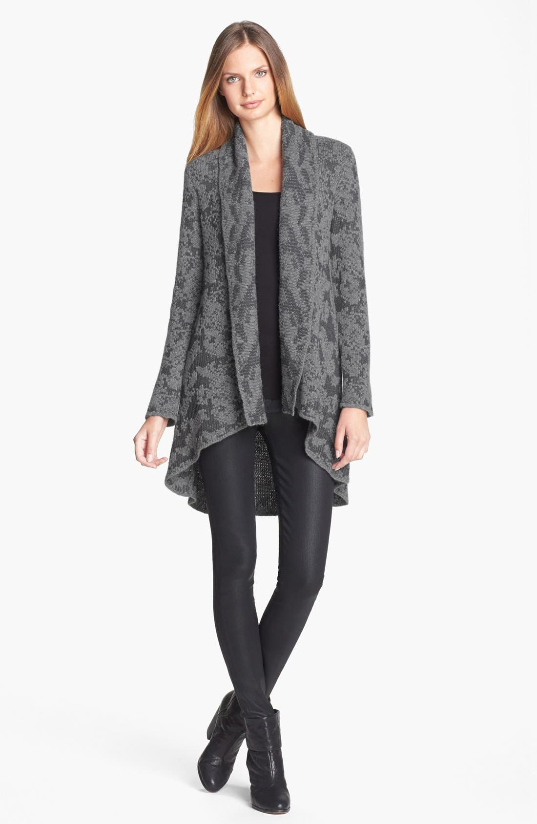 Alternate Image 4  - Eileen Fisher Open Front Shawl Collar Cardigan