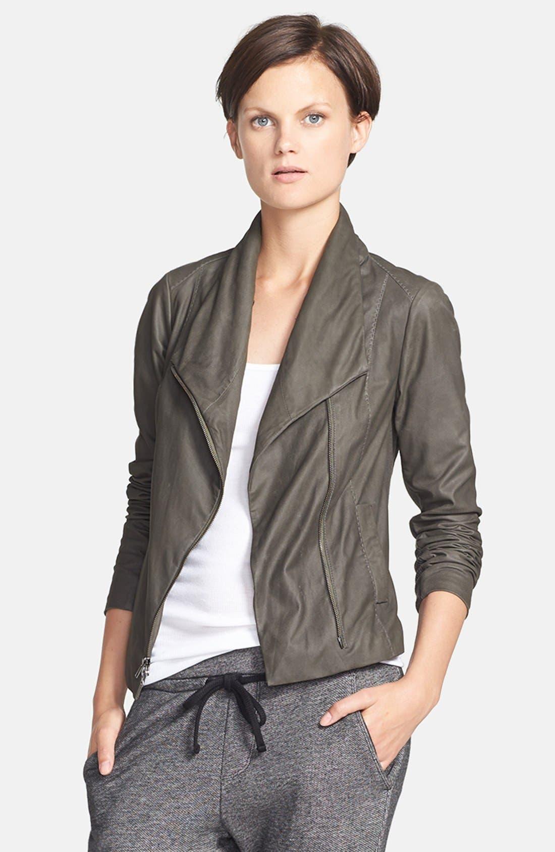 Main Image - Vince 'Paper' Leather Scuba Jacket
