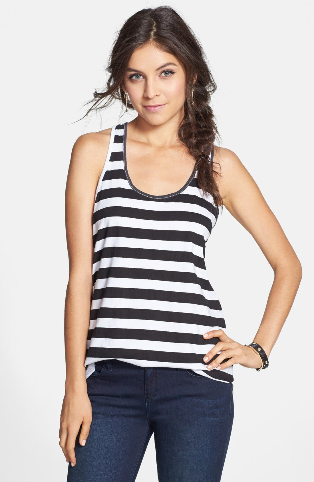Main Image - BP. Racerback Cotton Tank (Juniors)
