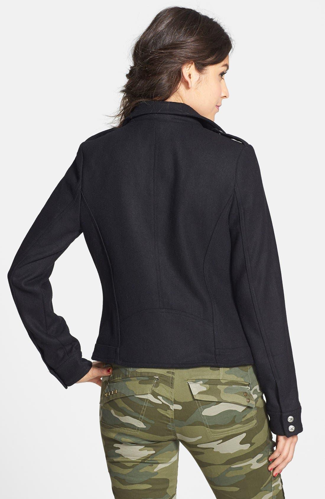 Alternate Image 2  - Others Follow Wool Blend Moto Jacket (Juniors)