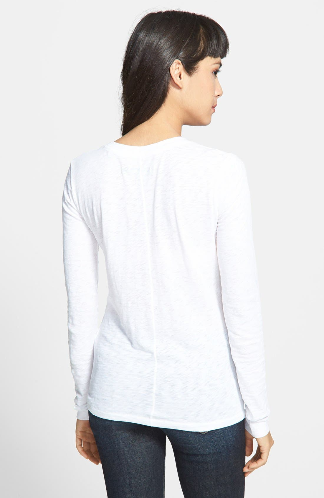 Alternate Image 2  - rag & bone/JEAN Long Sleeve Burnout Tee
