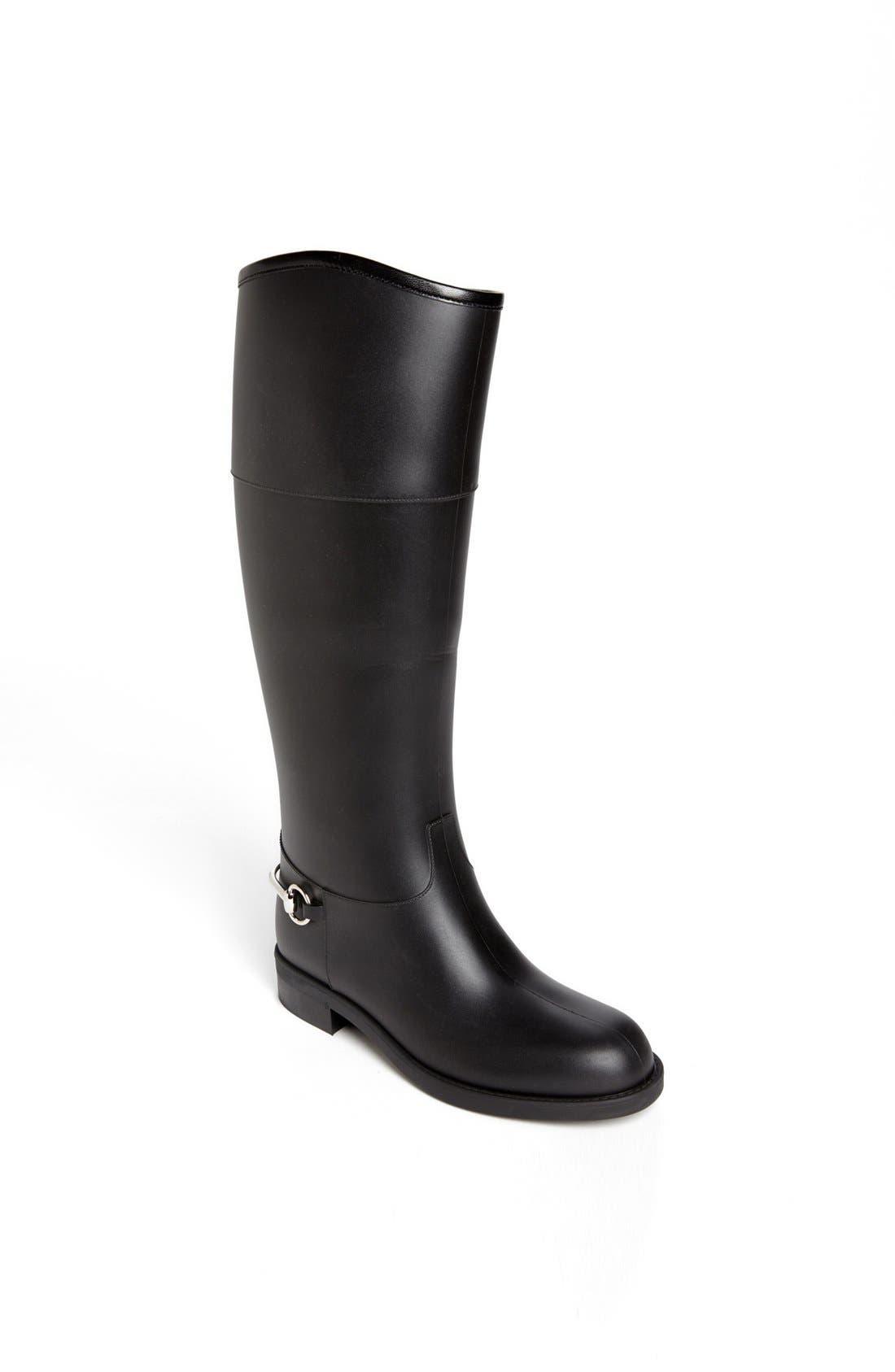 Main Image - Gucci Rubber Waterproof Rain Boot
