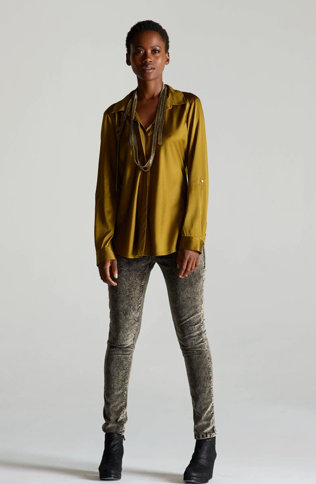 Alternate Image 5  - Eileen Fisher Stretch Velveteen Skinny Jeans