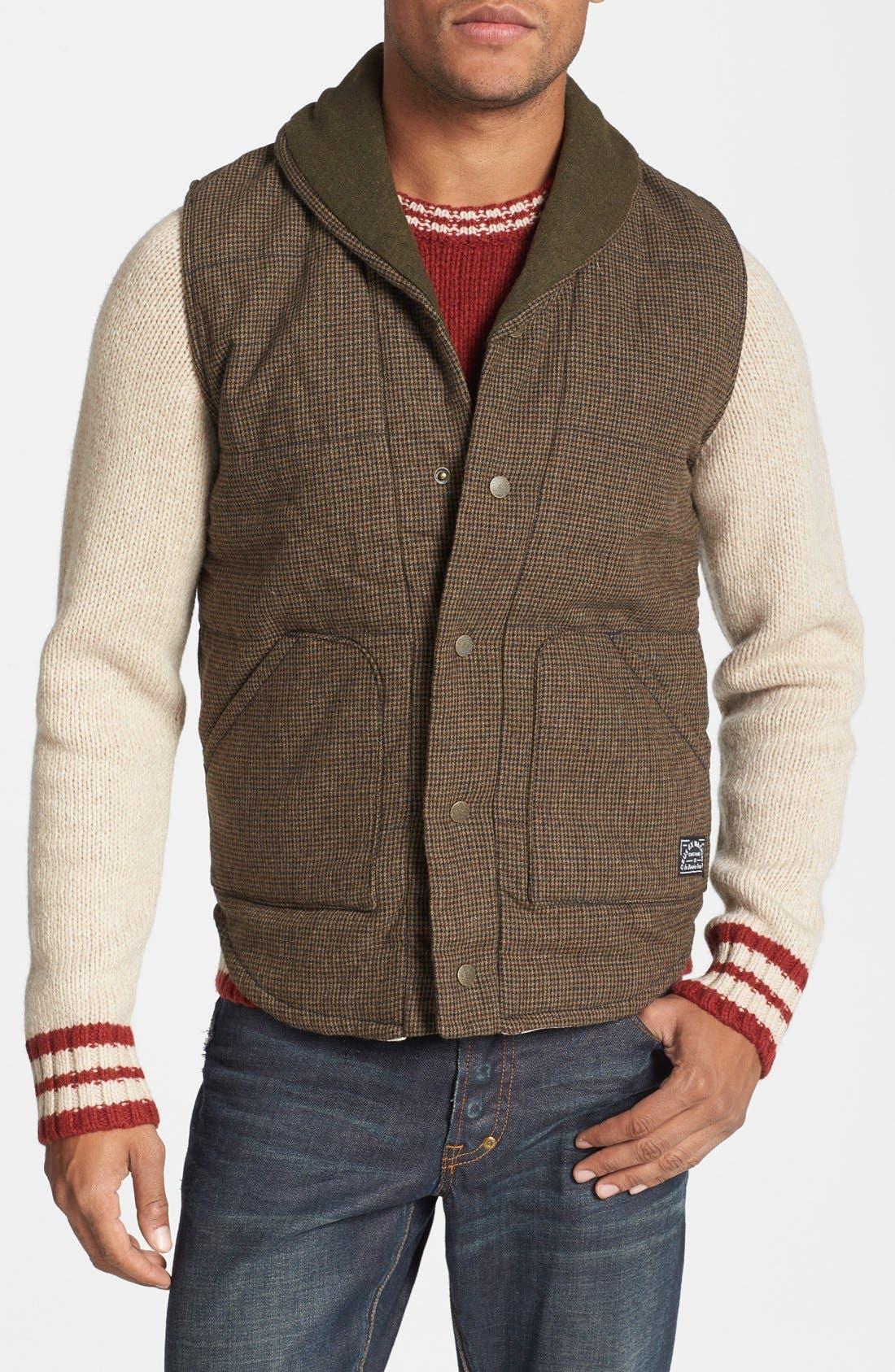 Main Image - Deus Ex Machina 'Doyle' Padded Tweed Vest