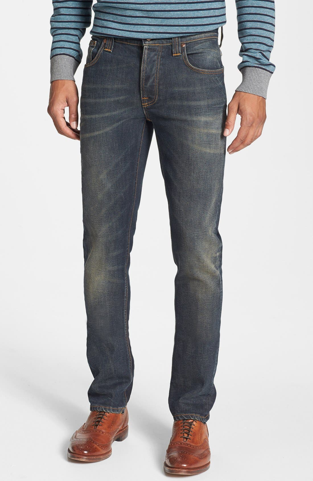 Alternate Image 2  - Nudie Jeans 'Thin Finn' Skinny Fit Jeans (Organic Worn In Pepper)