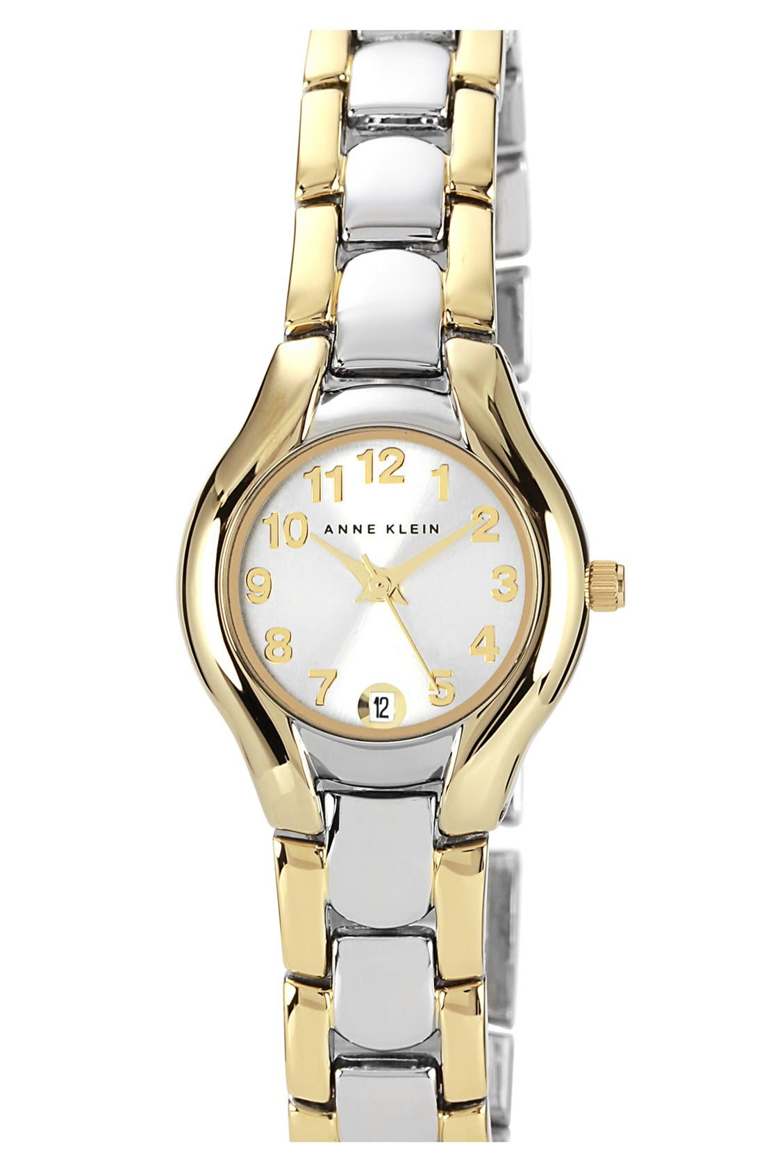 Alternate Image 1 Selected - Anne Klein Two Tone Bracelet Watch, 22mm
