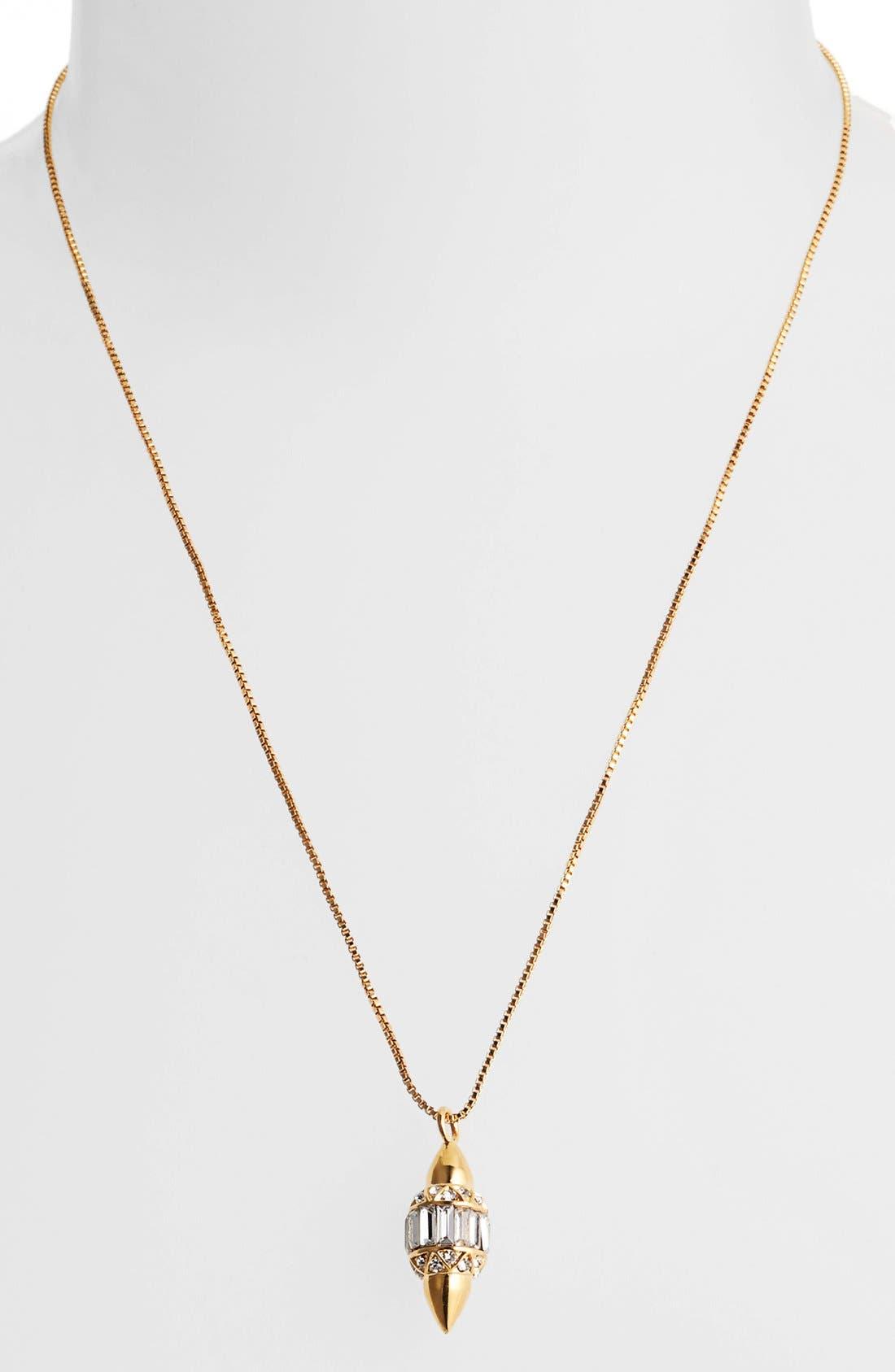 Alternate Image 2  - Vince Camuto 'Diamonds in the Sky' Baguette Crystal Pendant Necklace