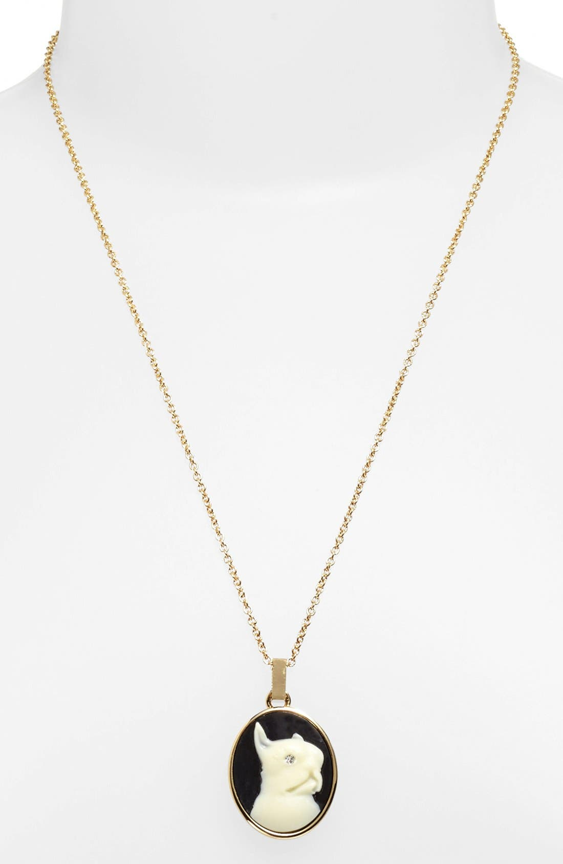 Alternate Image 1 Selected - MARC BY MARC JACOBS 'Olive' Dog Cameo Pendant Necklace