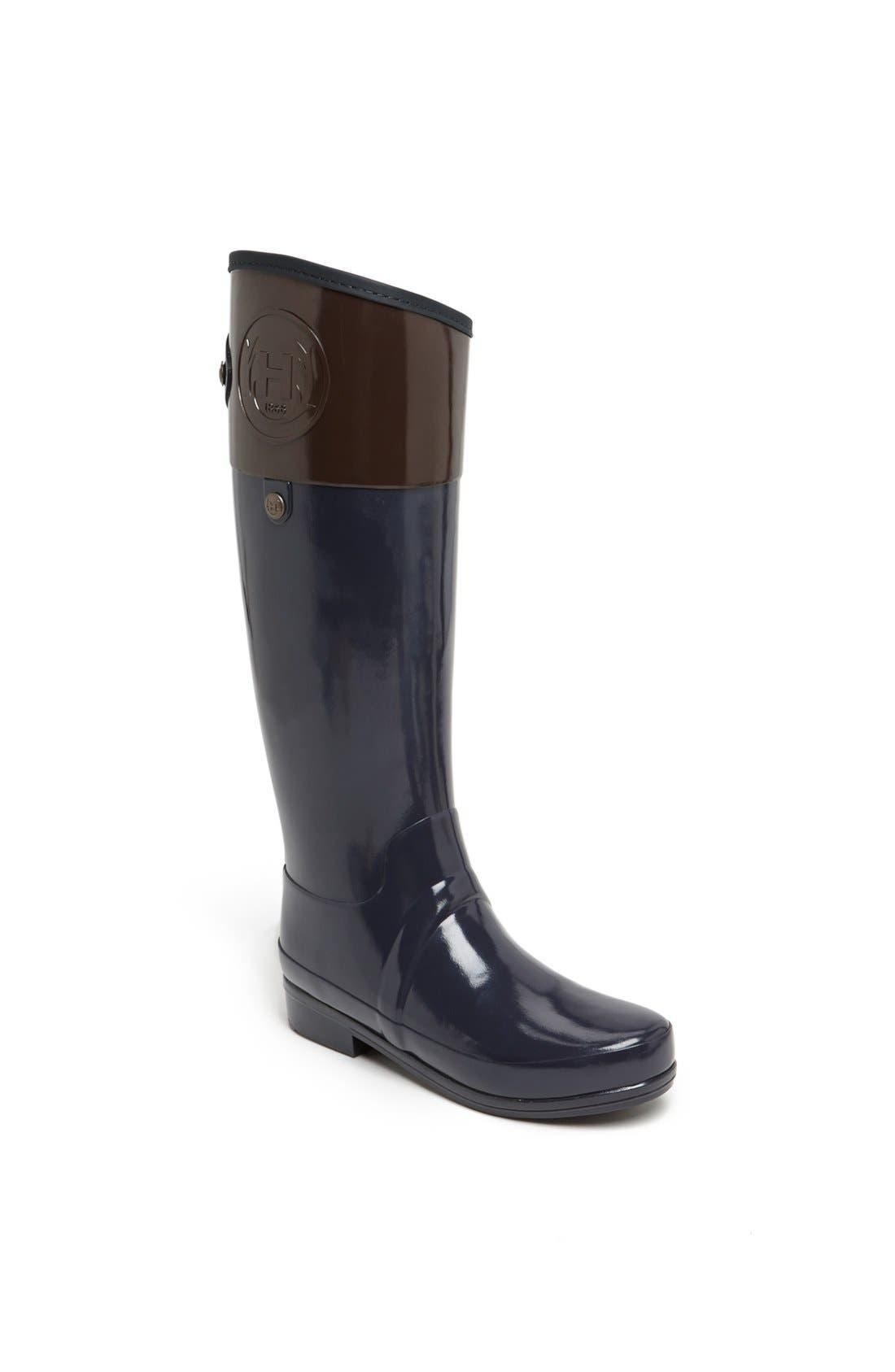 Alternate Image 1 Selected - Hunter 'Sandhurst Carlyle' Tall Riding Rain Boot (Women)