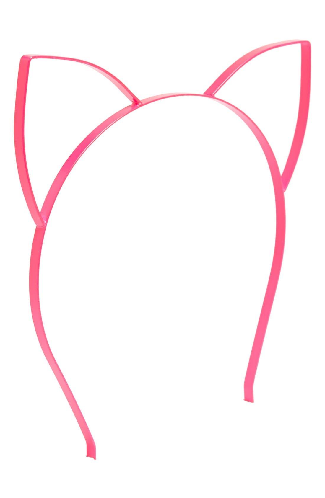 Alternate Image 1 Selected - Carole Cat Ears Headband (Juniors)