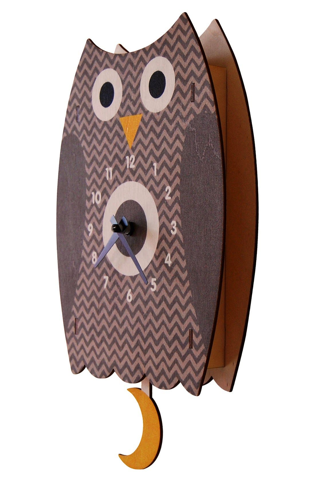 Alternate Image 2  - Modern Moose 'Owl' Pendulum Clock