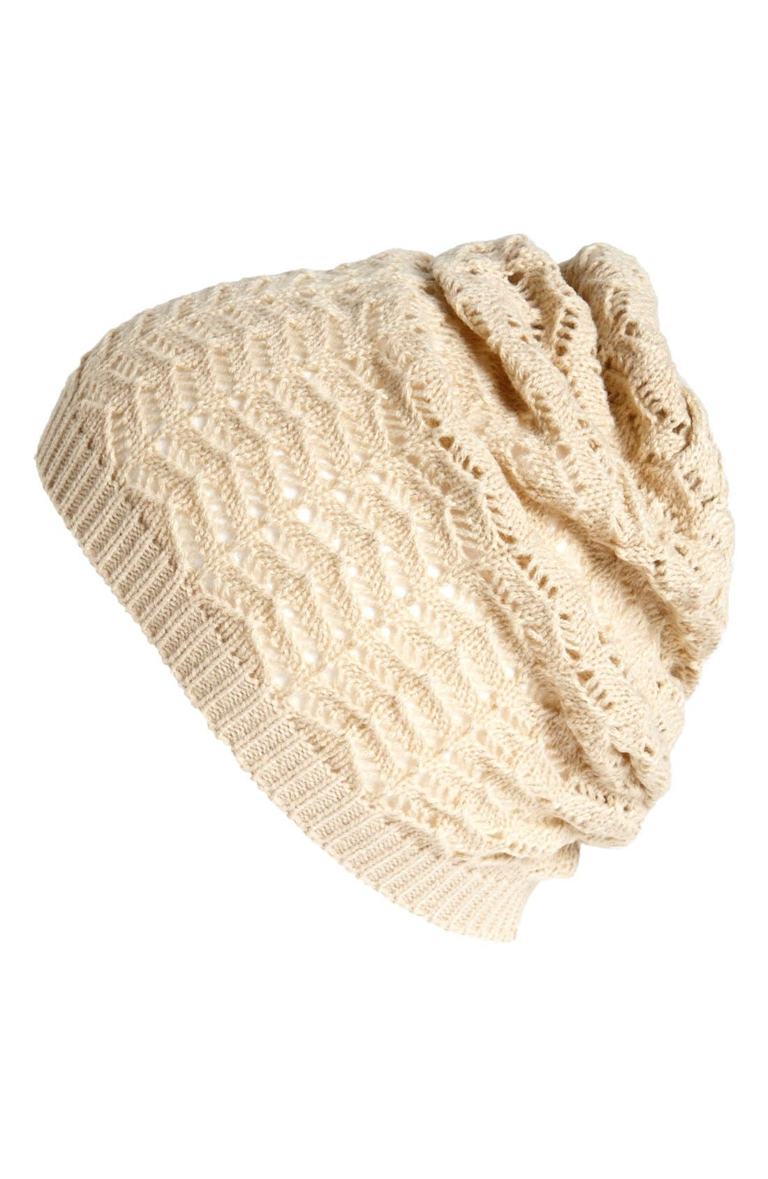 Alternate Image 1 Selected - Lulu Knit Hat (Juniors)