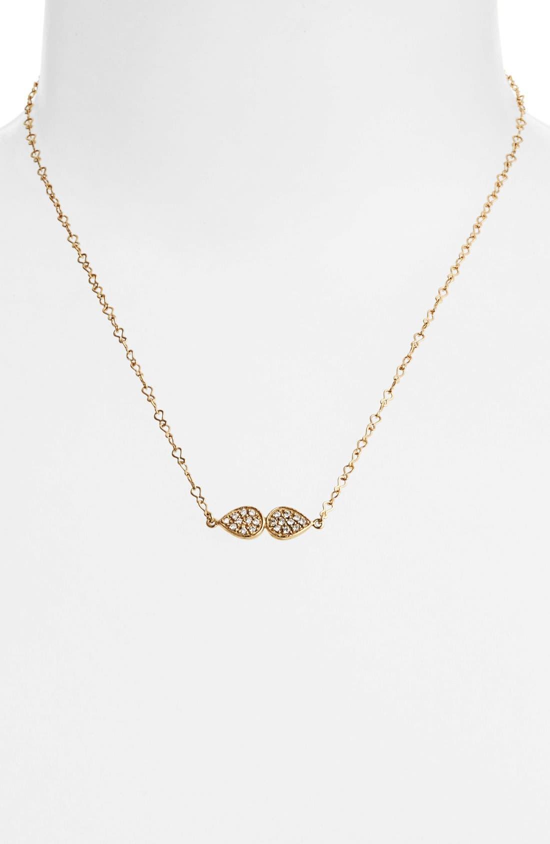 Alternate Image 1 Selected - Melinda Maria 'June - Leaf' Pendant Necklace