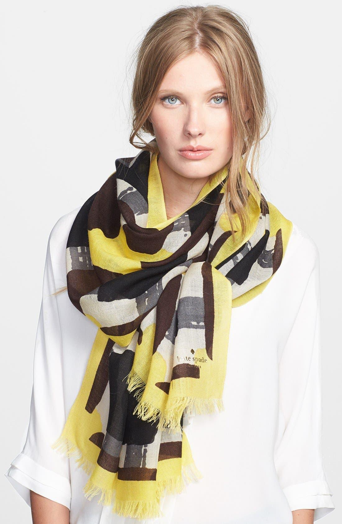 Main Image - kate spade new york 'beautiful type - menswear geo' scarf
