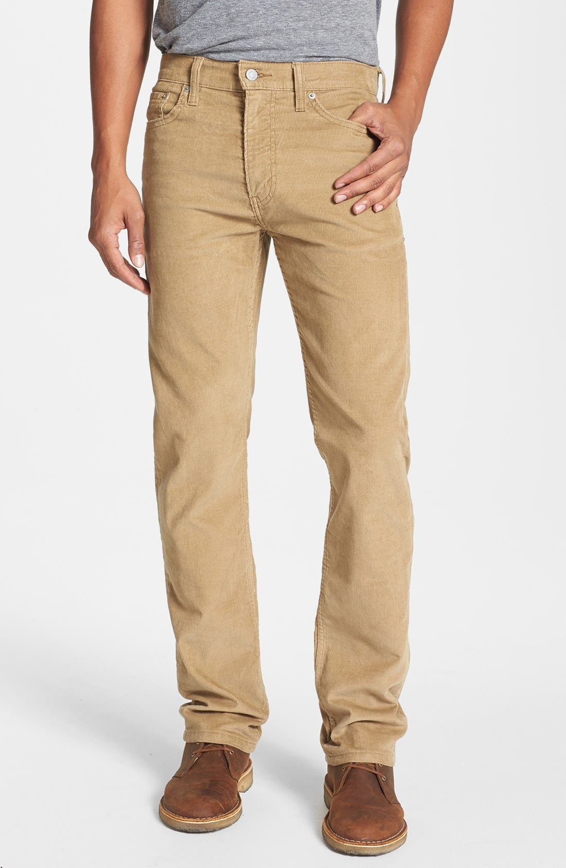 Alternate Image 1 Selected - Levi's® '513™' Slim Straight Leg Corduroy Pants