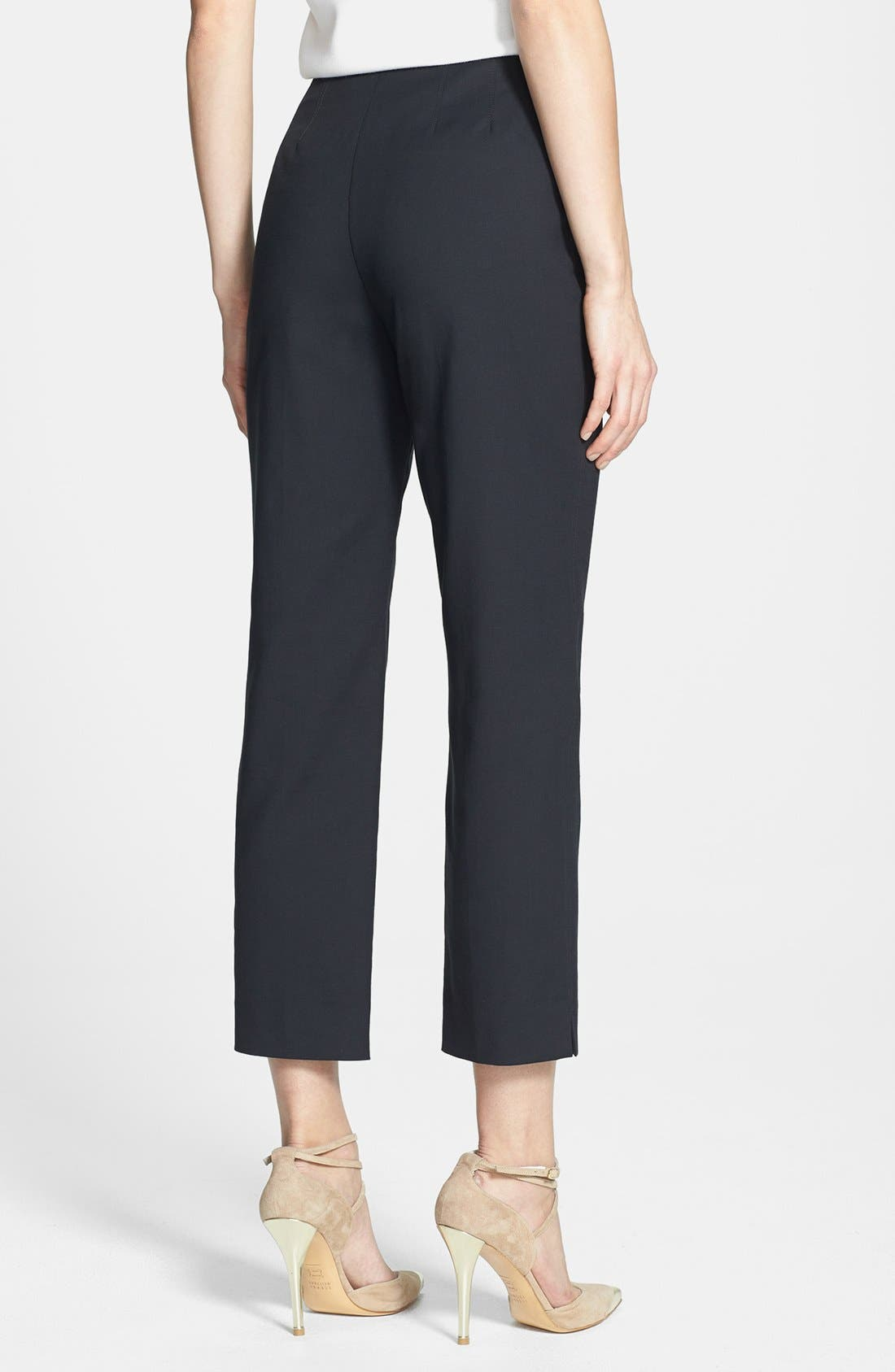 Alternate Image 2  - St. John Yellow Label 'Audrey' Double Weave Stretch Cotton Capri Pants