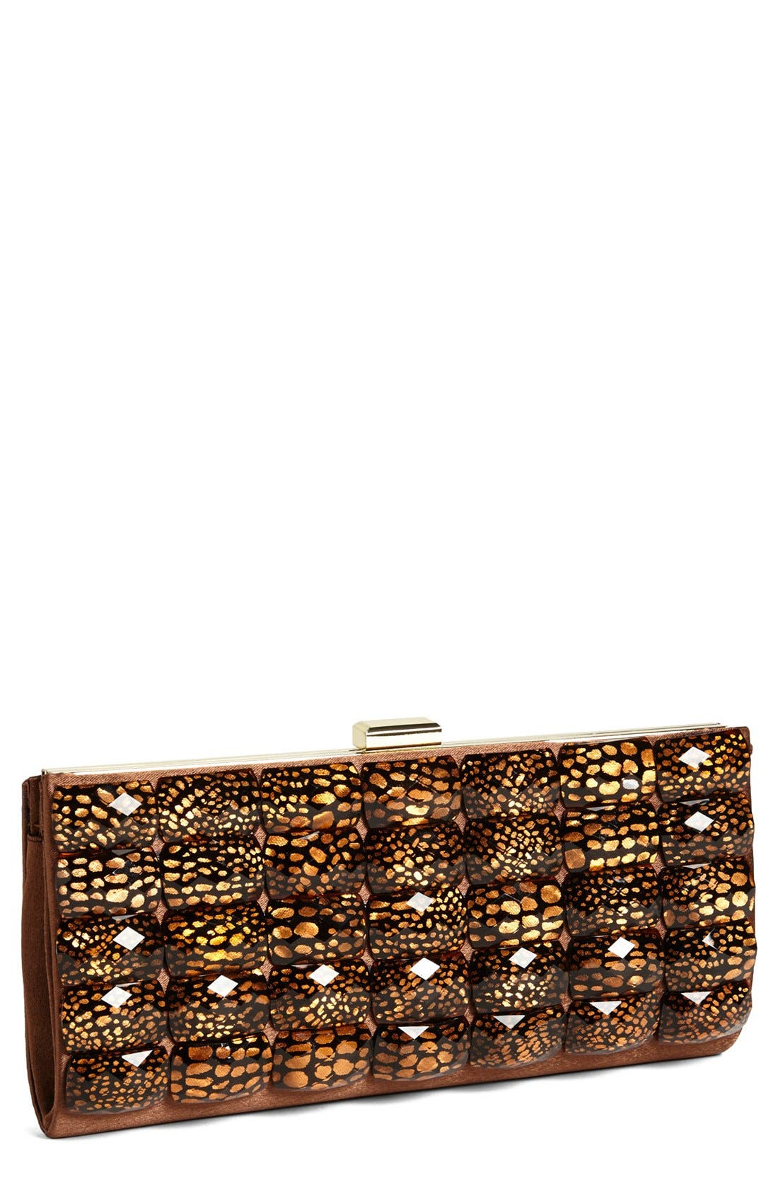 Alternate Image 1 Selected - Sondra Roberts 'Leopard Stone - Slim' Clutch