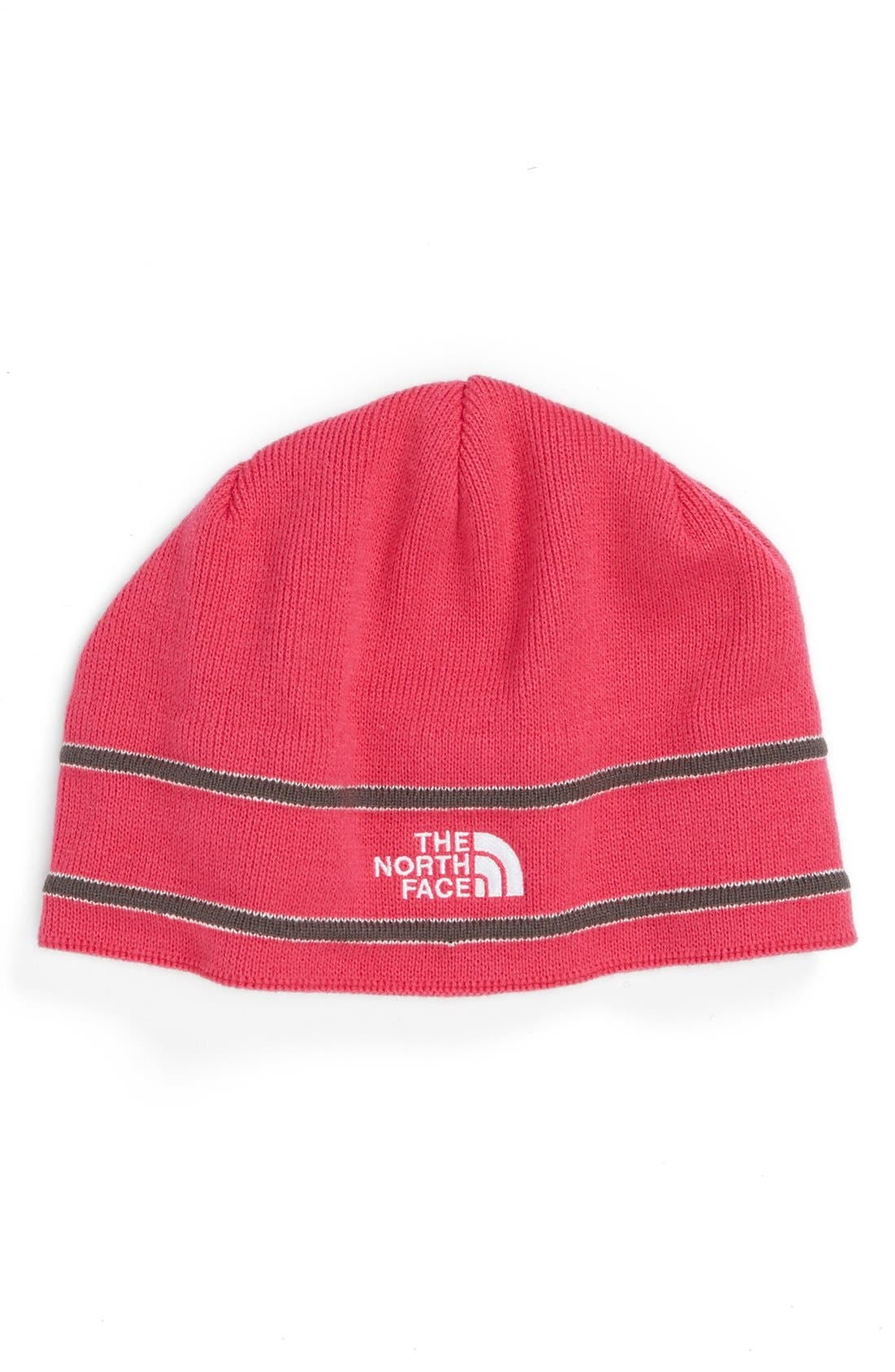 Main Image - The North Face Logo Beanie (Girls)