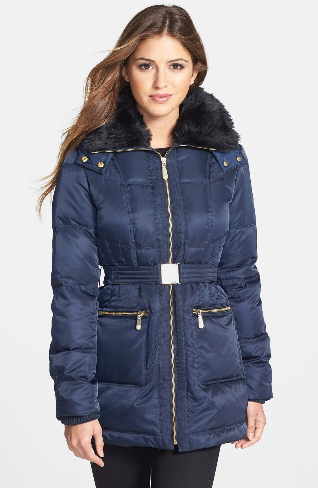 Main Image - Vince Camuto Faux Fur Collar Down & Feather Parka