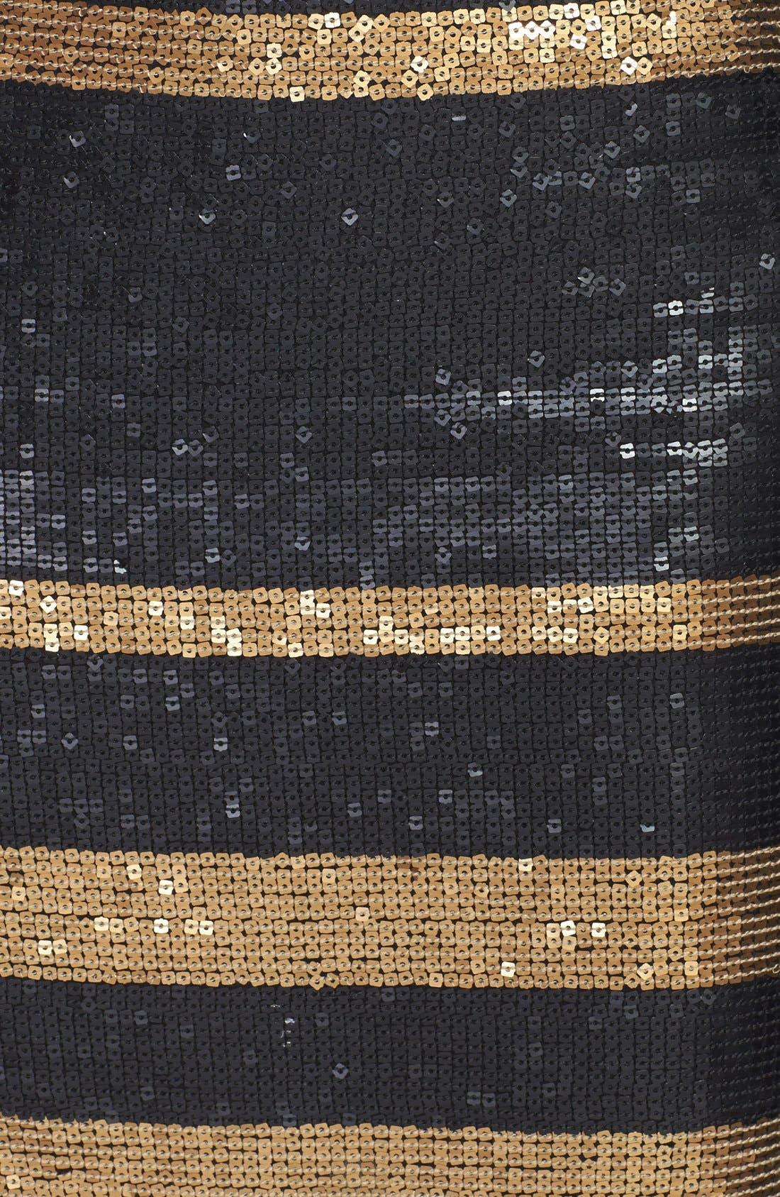 Alternate Image 4  - Adrianna Papell Stripe Sequin Pencil Skirt