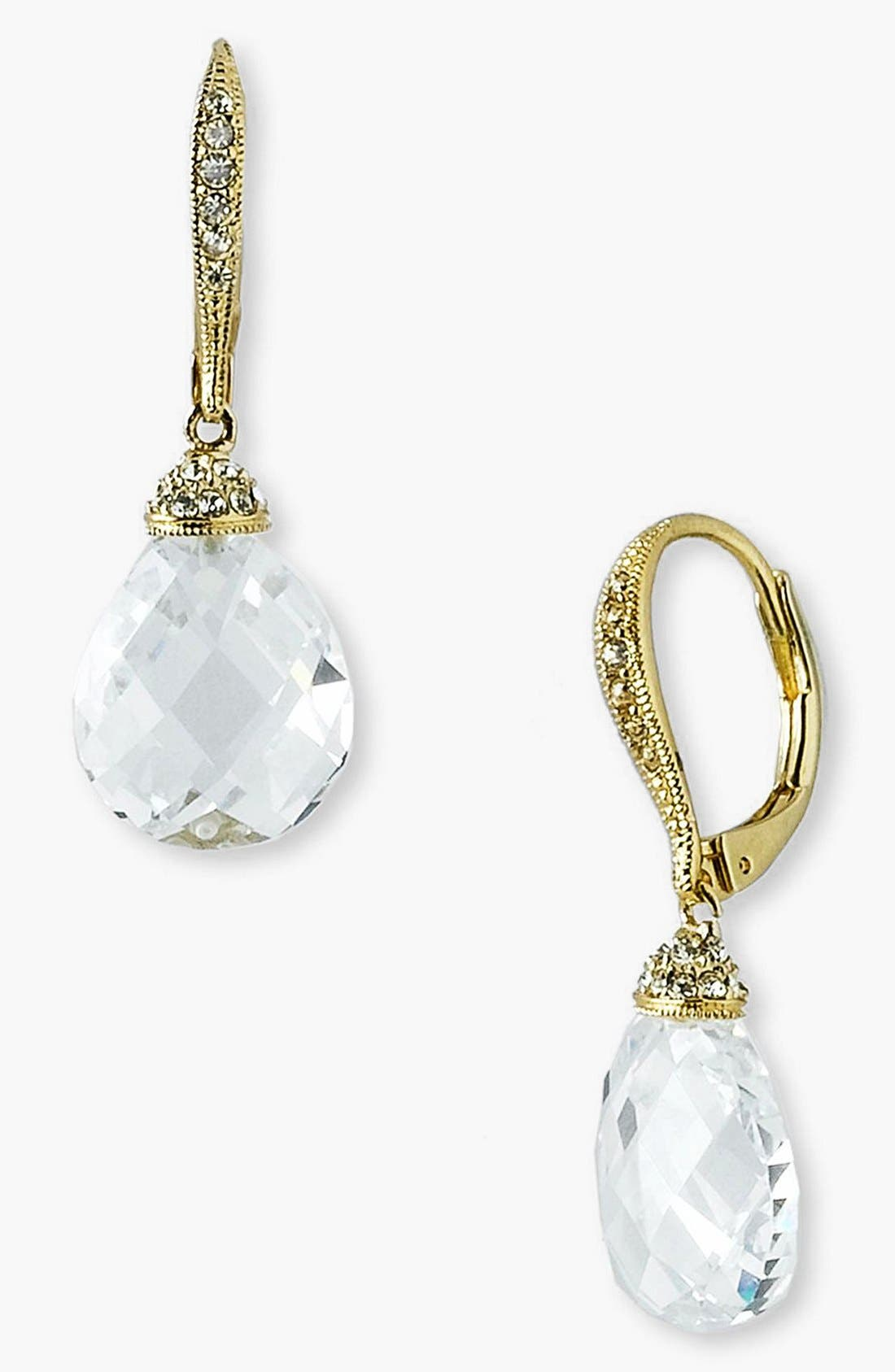 Main Image - Nadri Faceted Crystal Drop Earrings