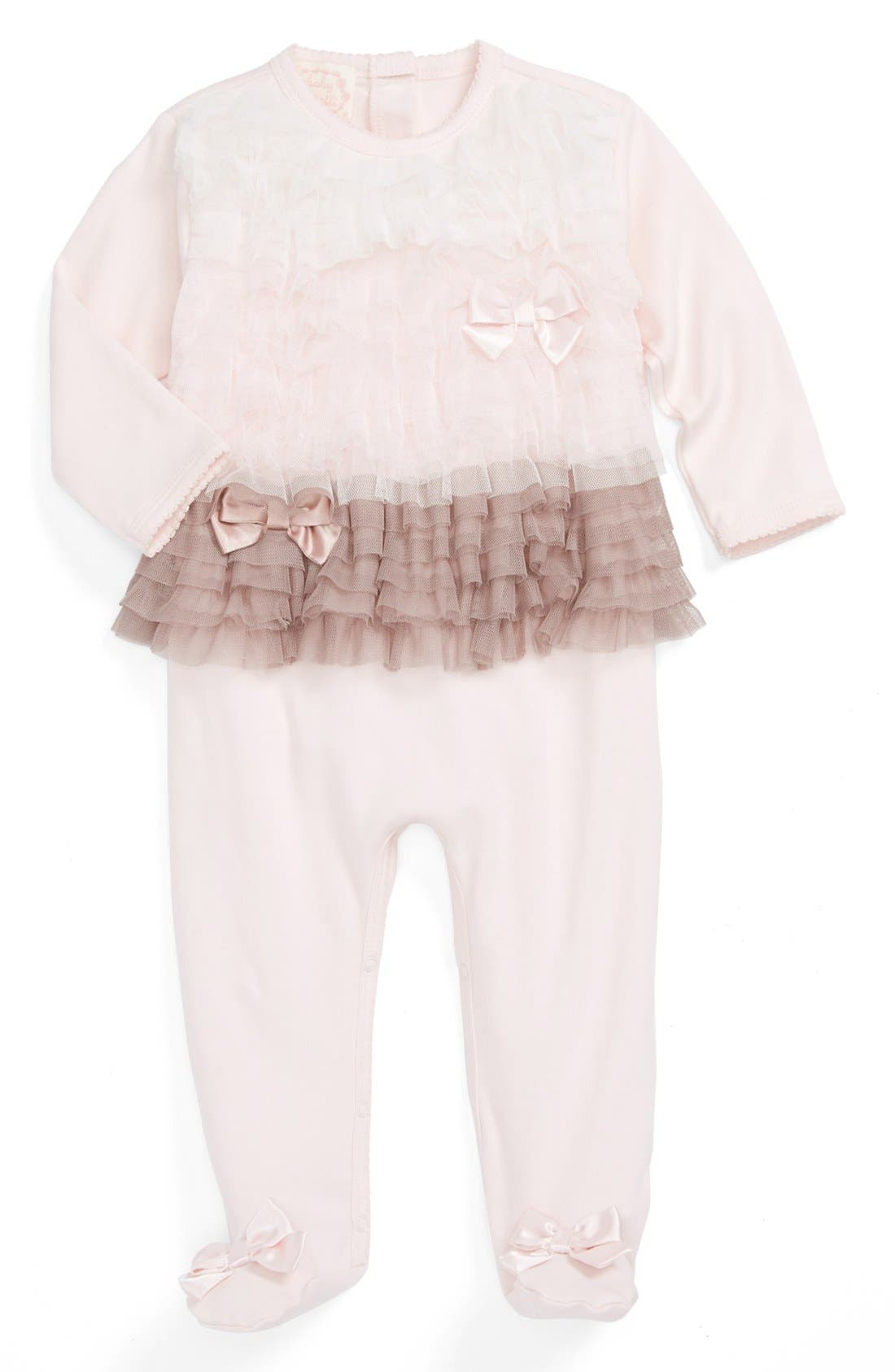Alternate Image 1 Selected - Biscotti One-Piece (Baby Girls)