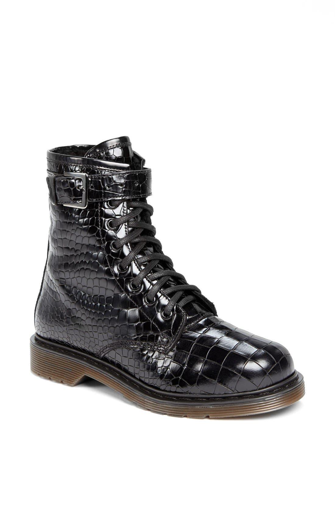 Main Image - Kurt Geiger London 'Steell' Croc Embossed Leather Boot