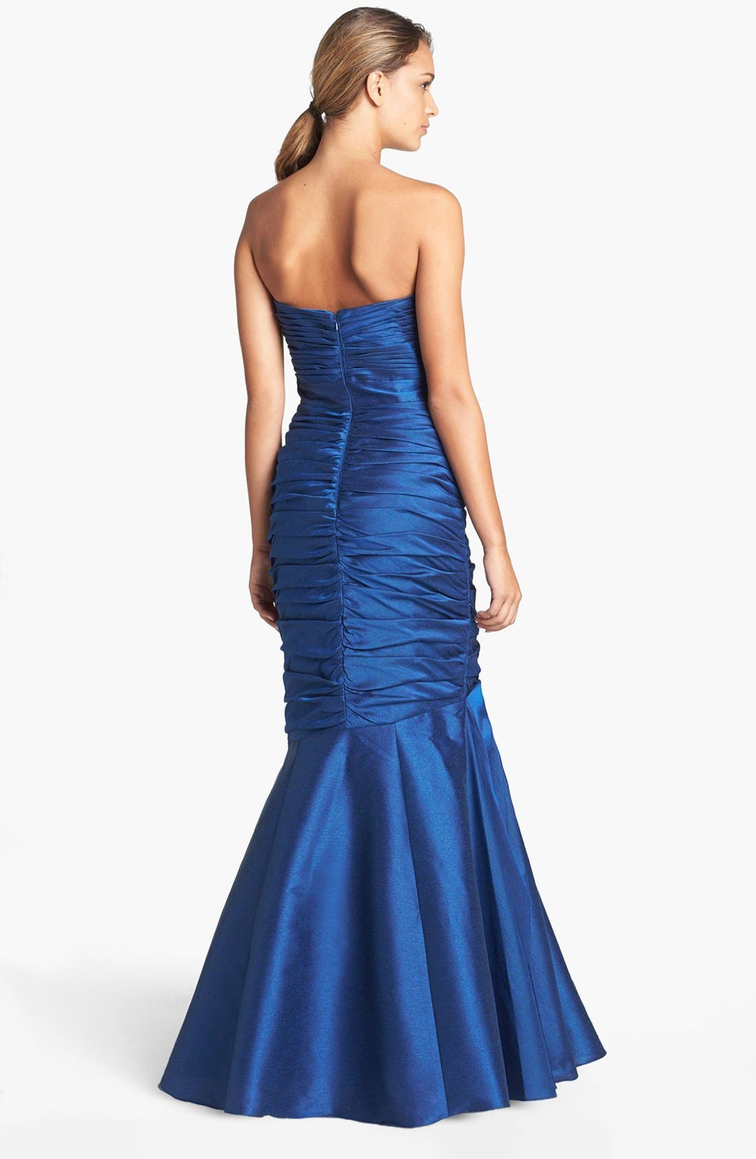 Alternate Image 2  - ML Monique Lhuillier Strapless Ruched Faille Mermaid Gown (Nordstrom Exclusive)