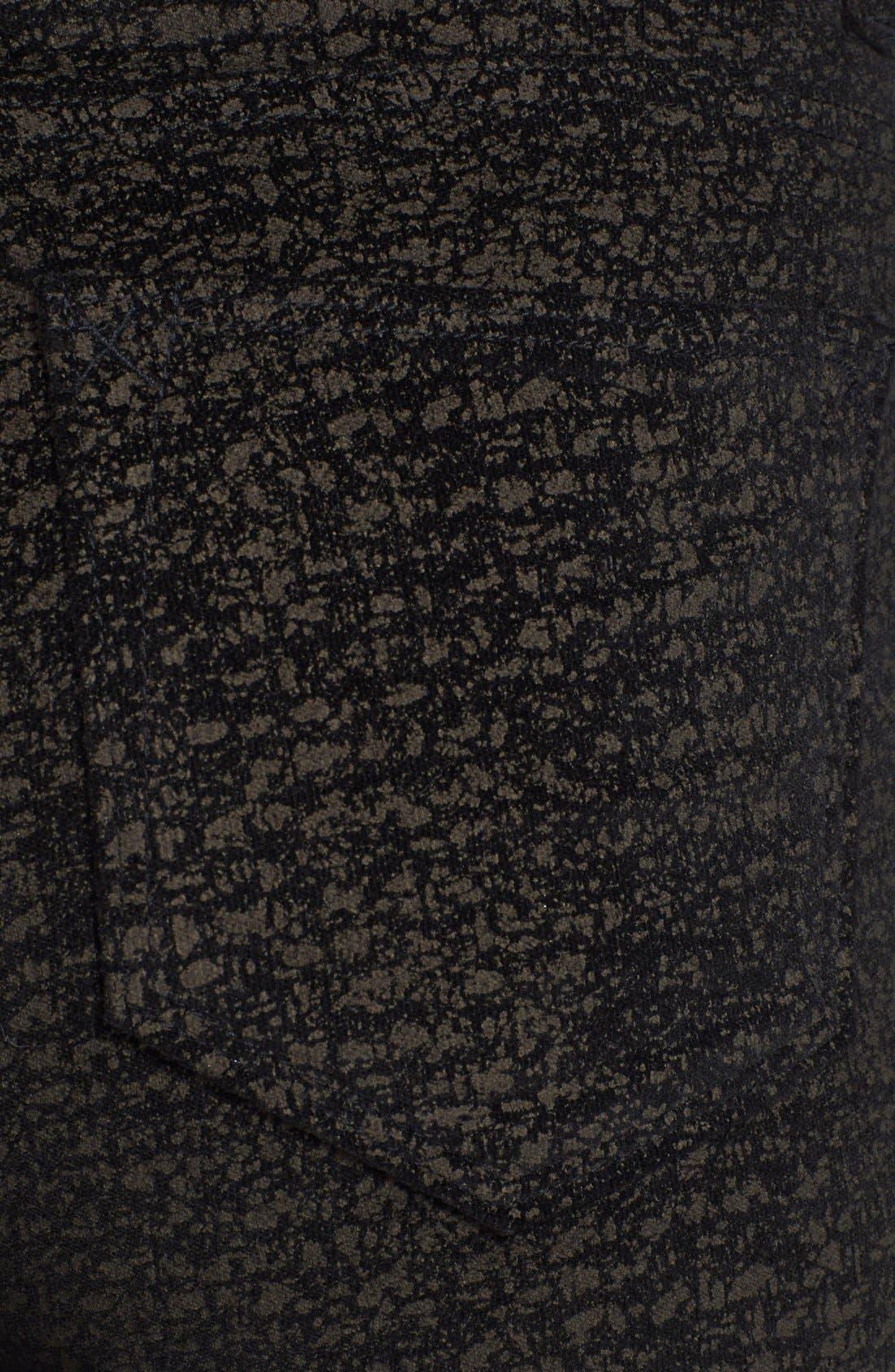 Alternate Image 3  - Christopher Blue 'Sophia' Velvet Skinny Jeans (Black/Gold)