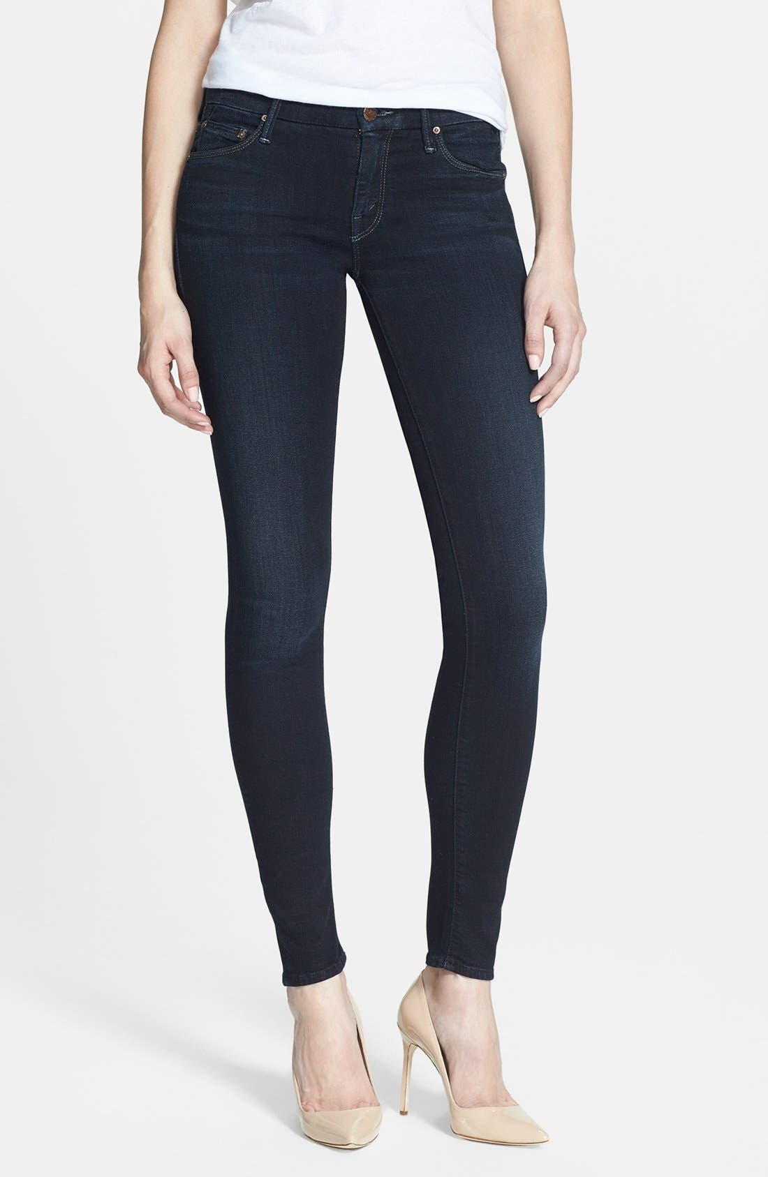 Alternate Image 1 Selected - MOTHER 'The Looker' Stretch Skinny Jeans (Bittersweet)