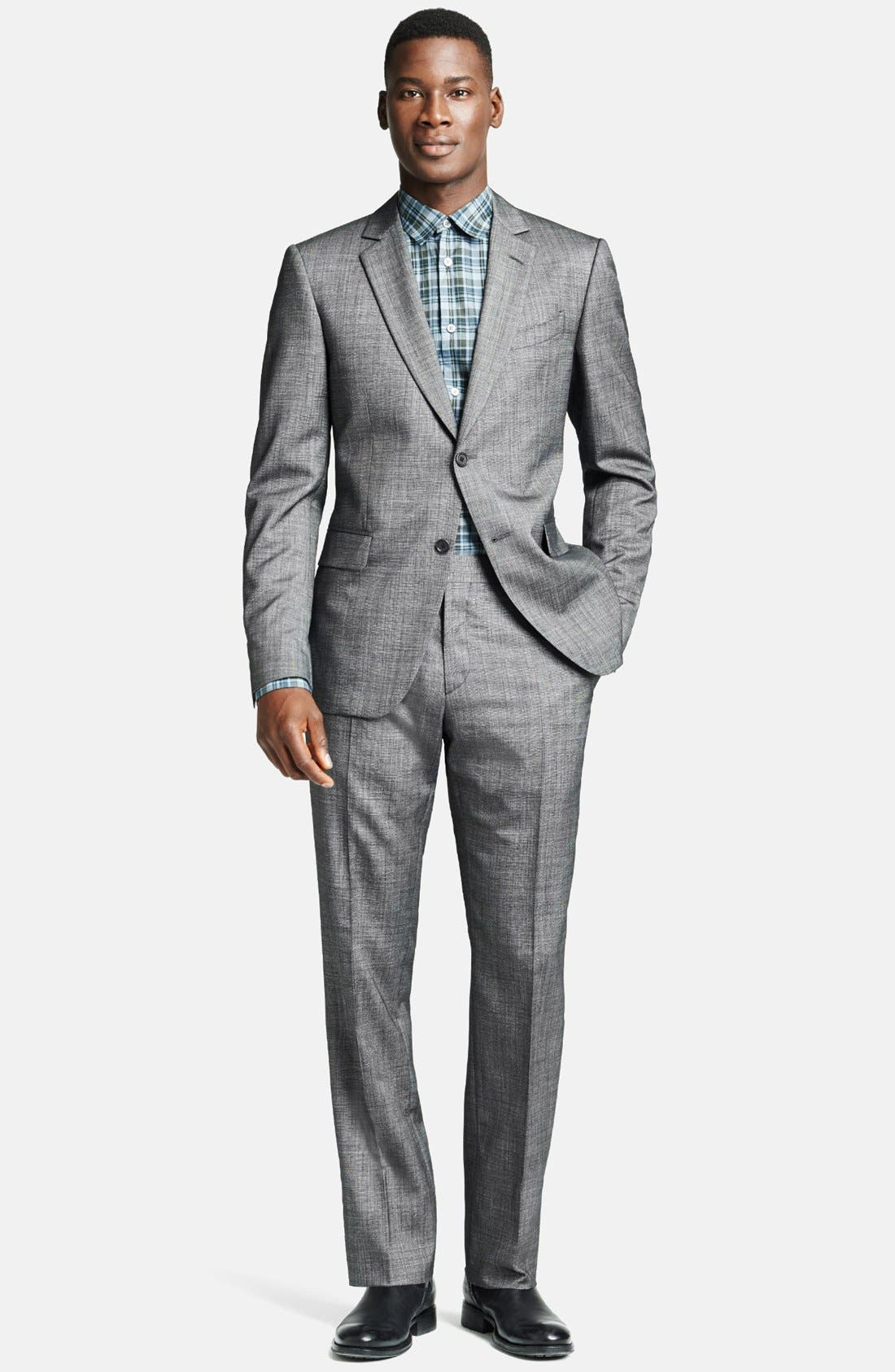 Alternate Image 1 Selected - John Varvatos Collection 'Austin' Licorice Wool & Silk Suit