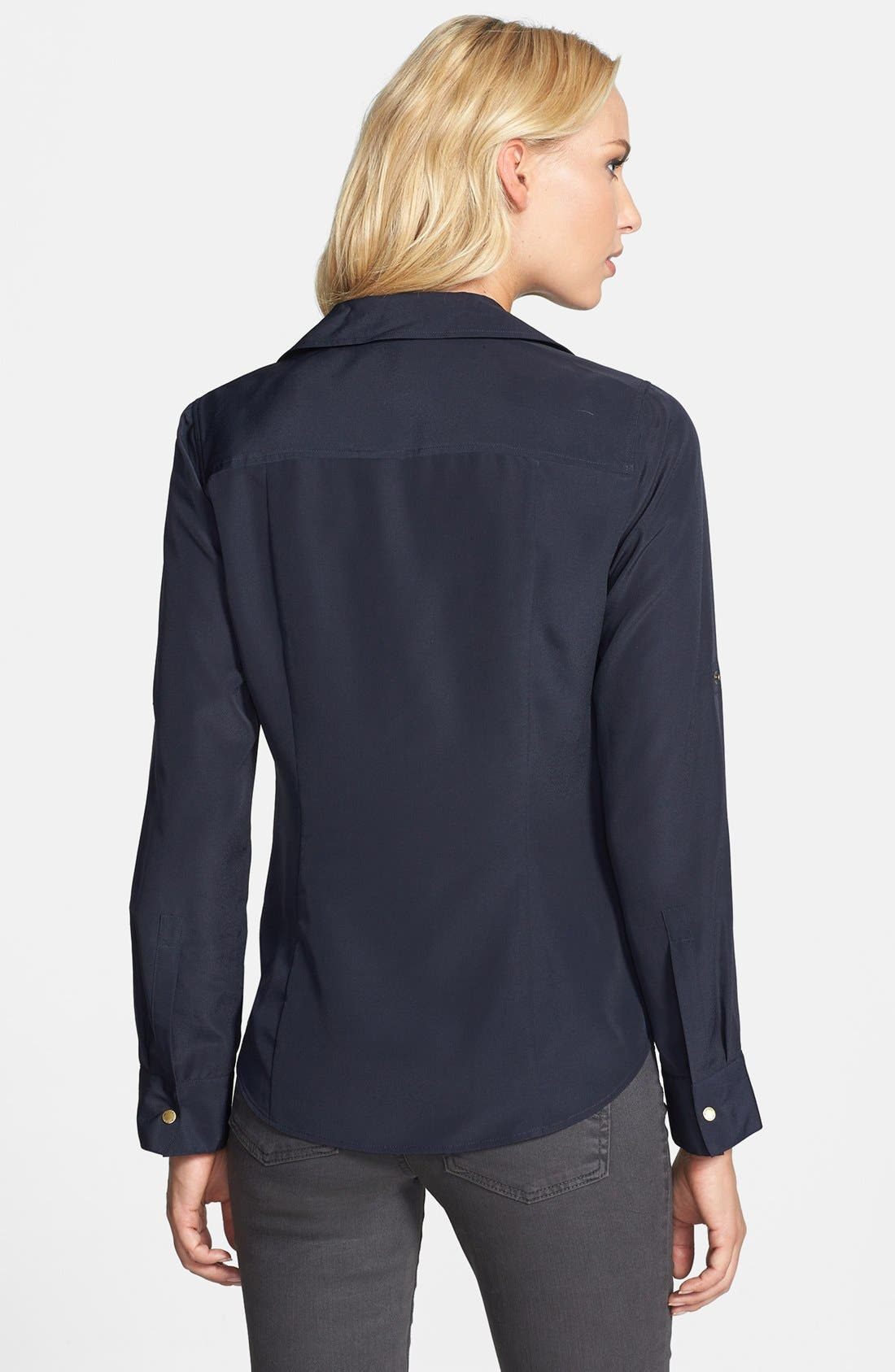 Alternate Image 2  - MICHAEL Michael Kors 'Dogtag Zip' Campshirt