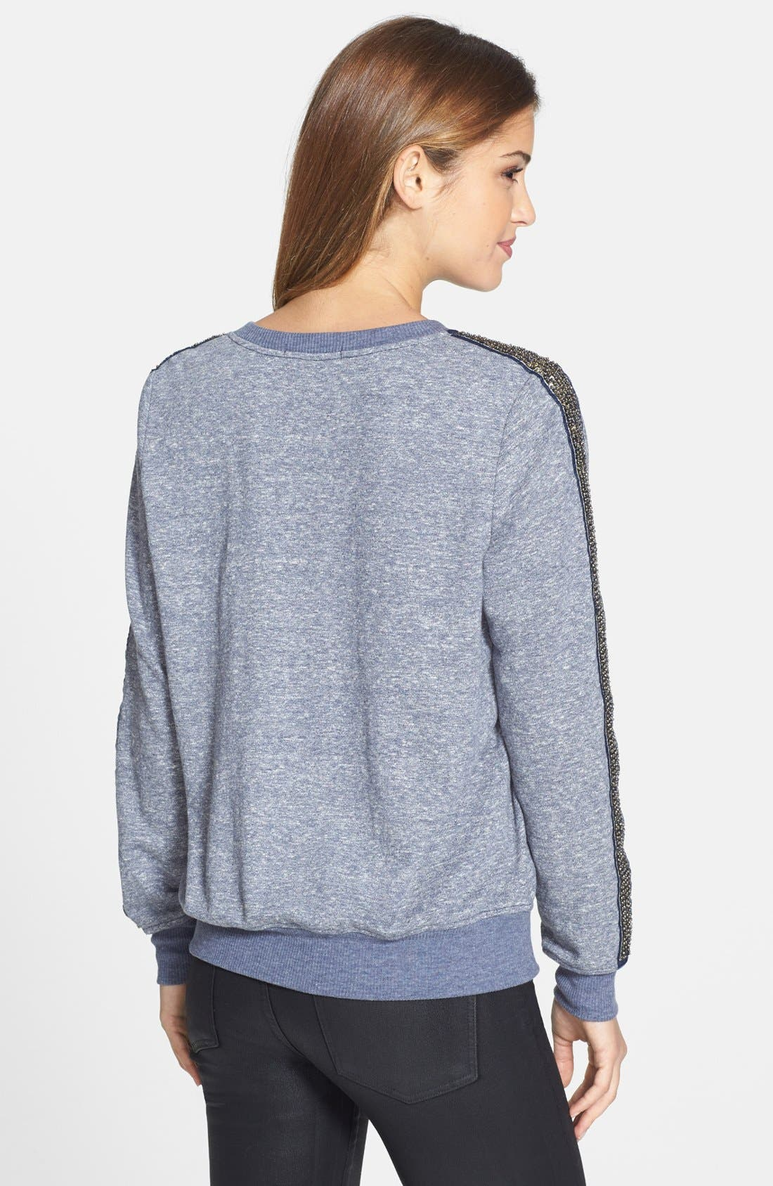 Alternate Image 2  - Olivia Moon Embellished Sleeve French Terry Pullover