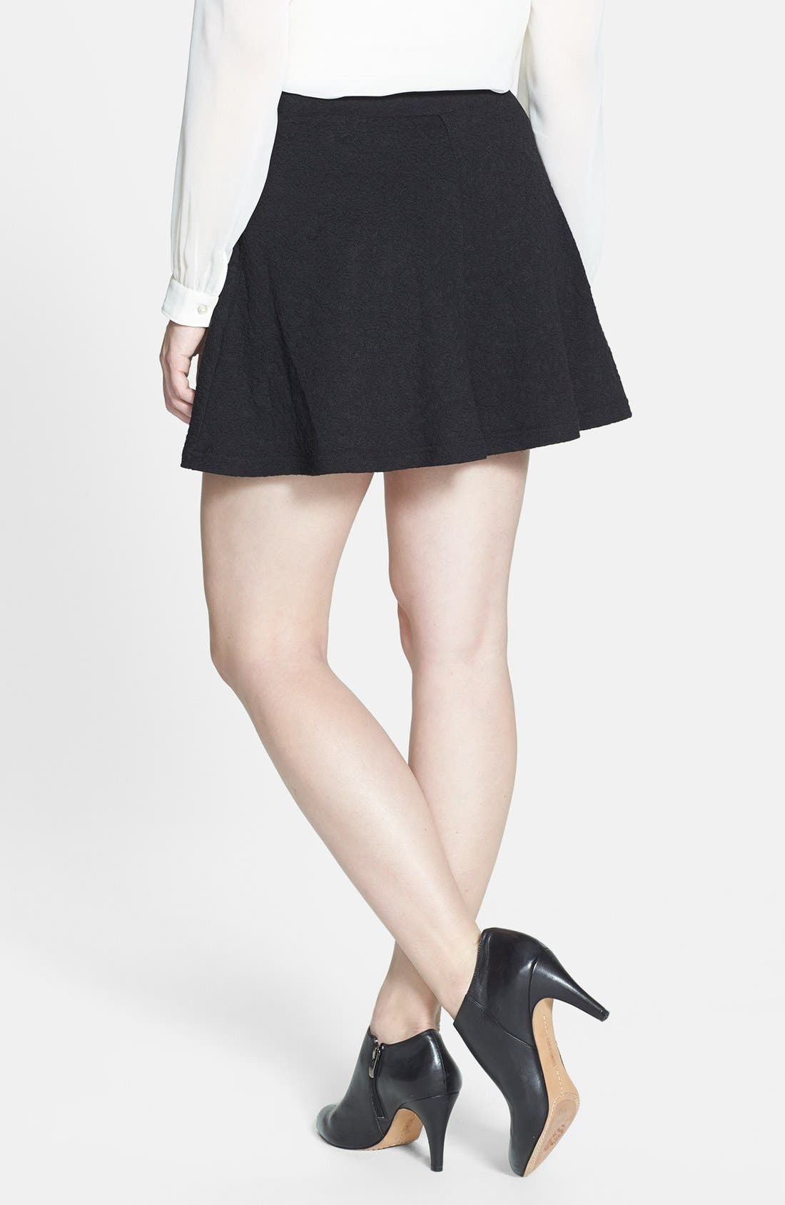 Alternate Image 2  - Research & Design Jacquard Ponte Skater Skirt