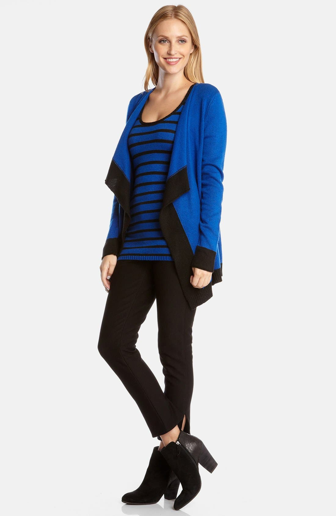Alternate Image 3  - Karen Kane Contrast Trim Cardigan