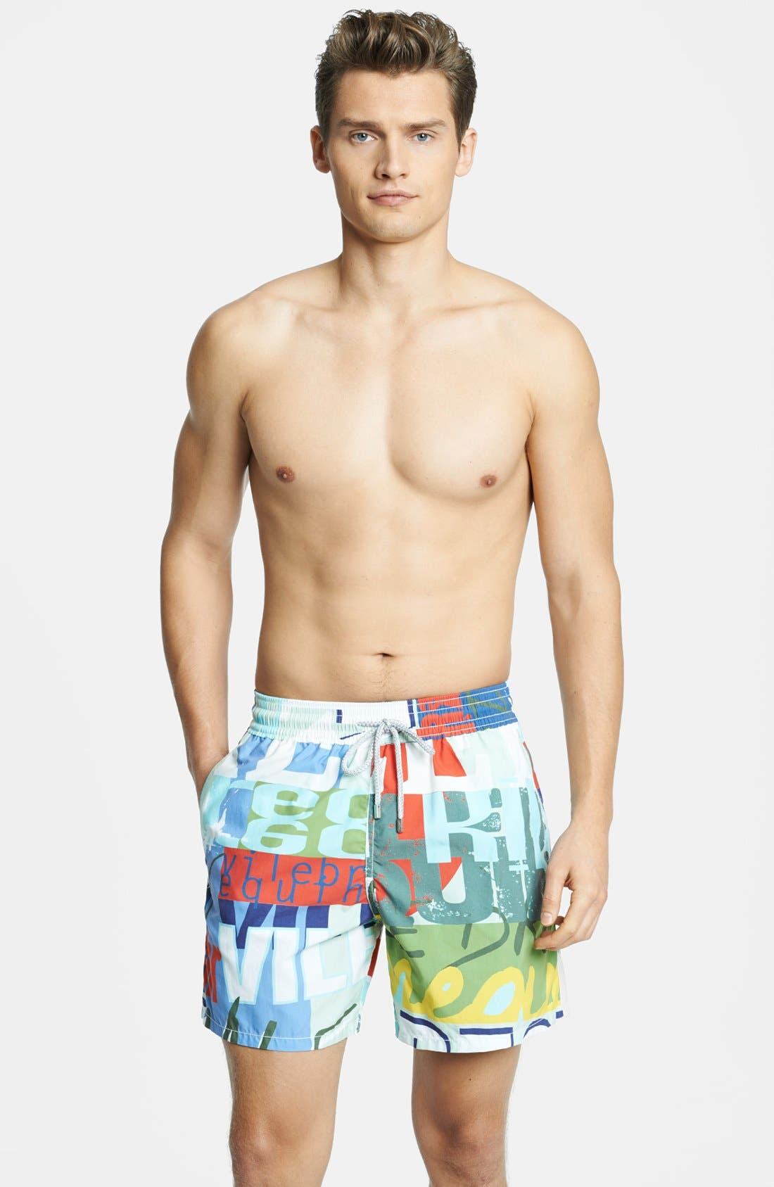 Alternate Image 1 Selected - Vilebrequin 'Moorea' Print Swim Trunks