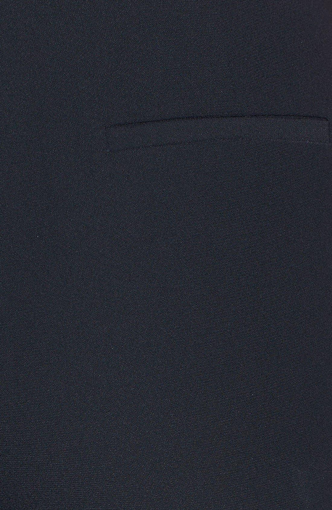Alternate Image 3  - Halogen® 'Quinn' Tuxedo Stripe Crepe Pants
