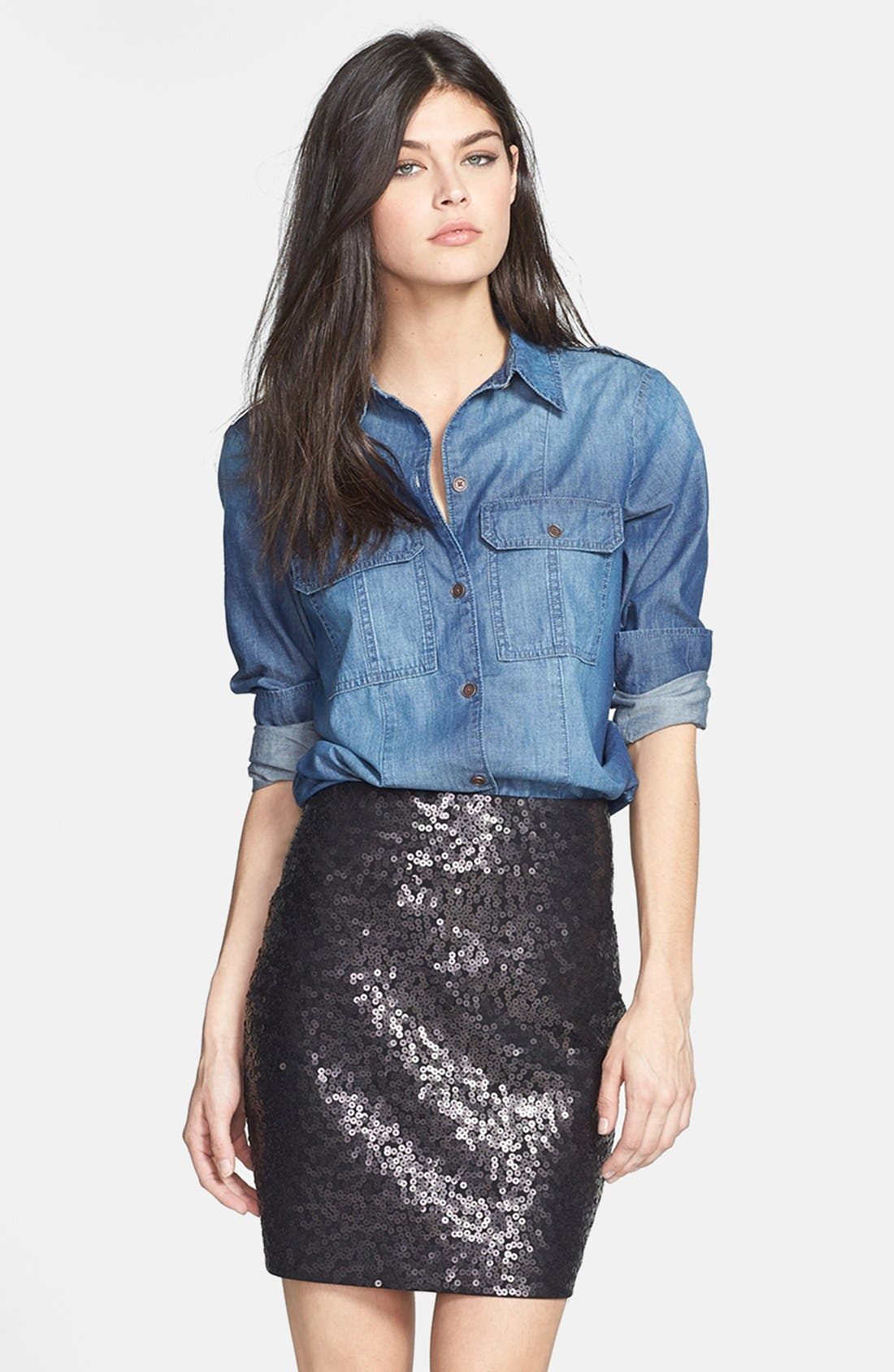 Alternate Image 1 Selected - Paige Denim 'Ali' Chambray Shirt