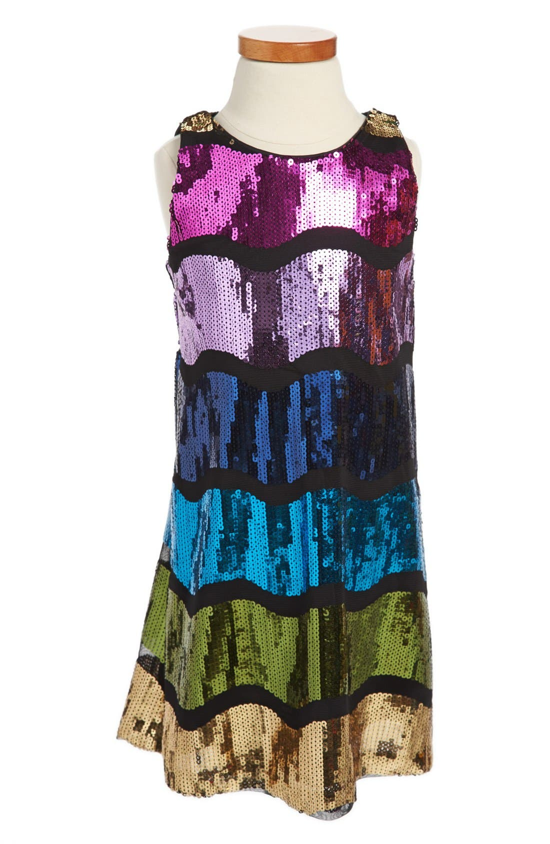 Alternate Image 1 Selected - Pippa & Julie Sleeveless Sequin Dress (Little Girls & Big Girls)