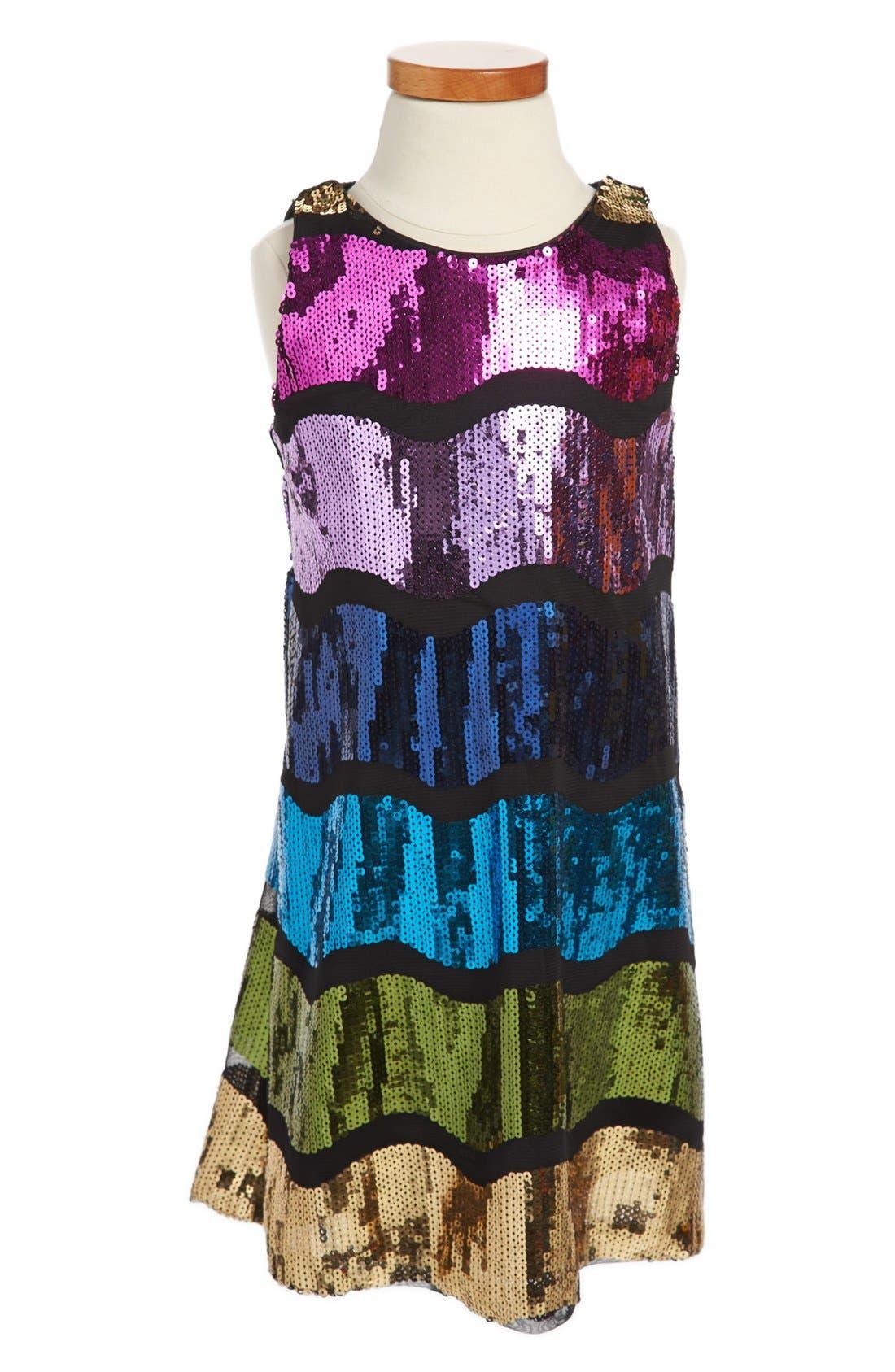 Main Image - Pippa & Julie Sleeveless Sequin Dress (Little Girls & Big Girls)