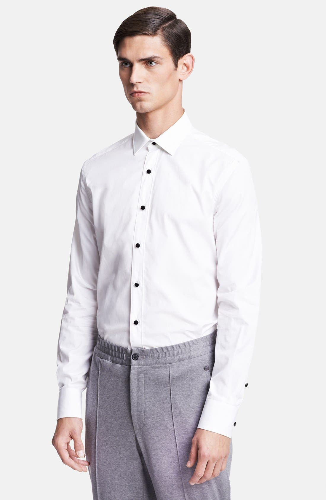 Main Image - Lanvin Tuxedo Shirt with Glass Button Details