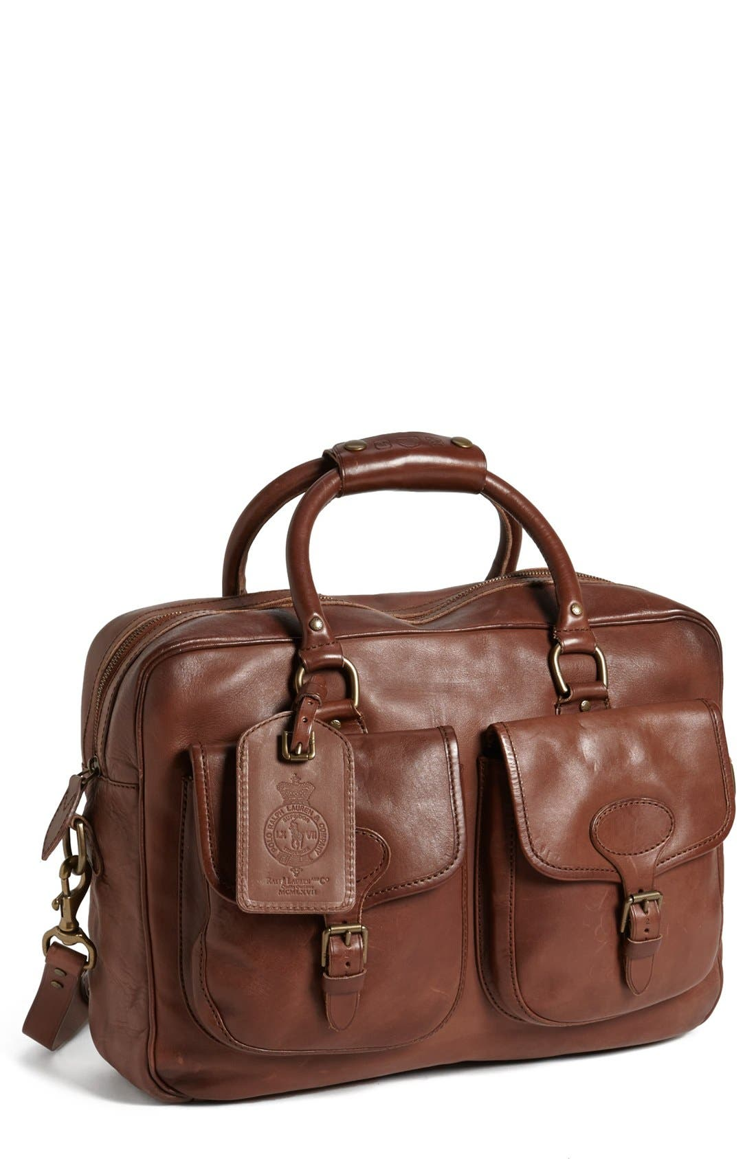 Main Image - Polo Ralph Lauren Leather Commuter Bag