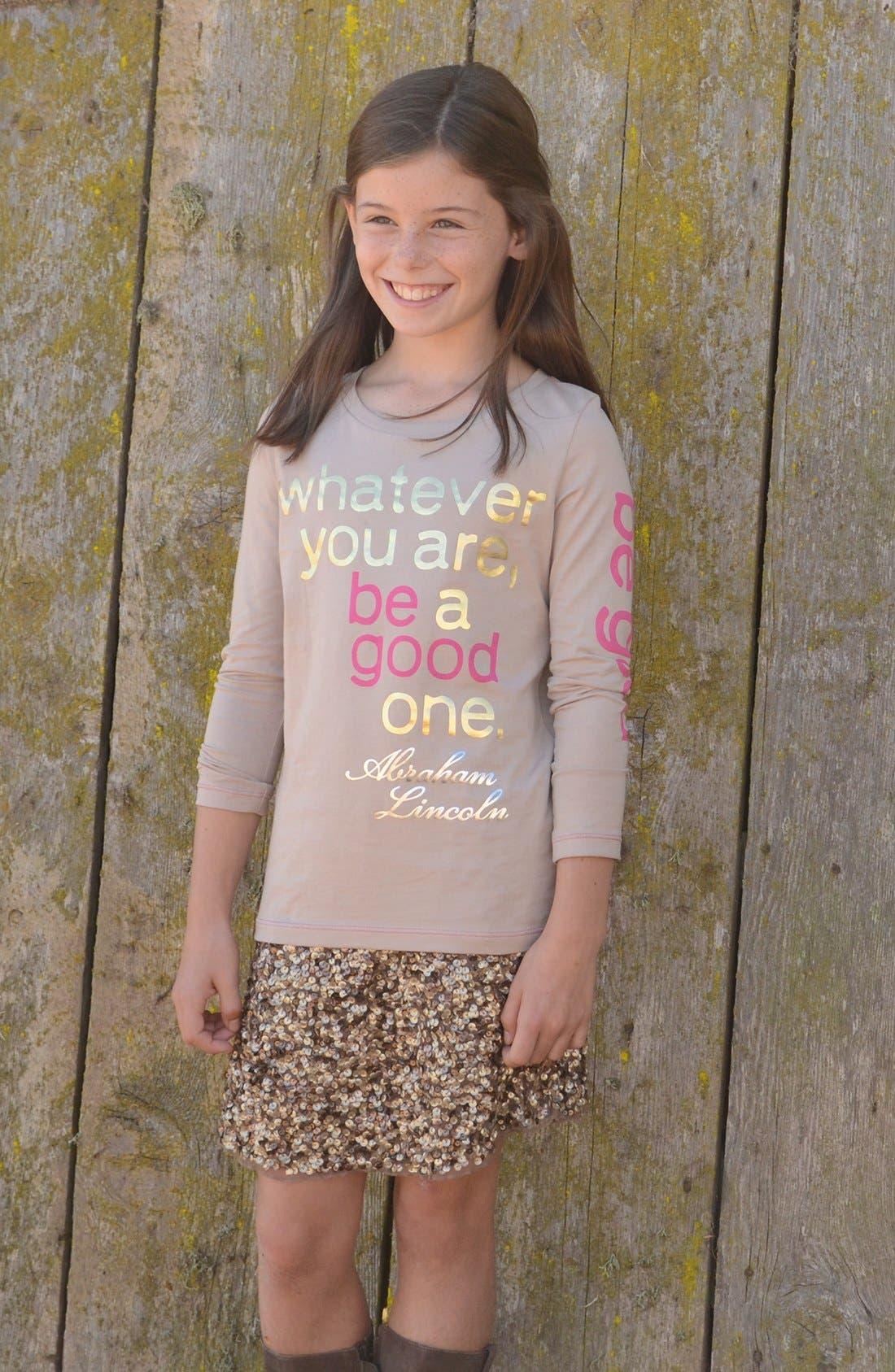 Alternate Image 2  - Peek 'Be Good' Tee (Toddler Girls, Little Girls & Big Girls)