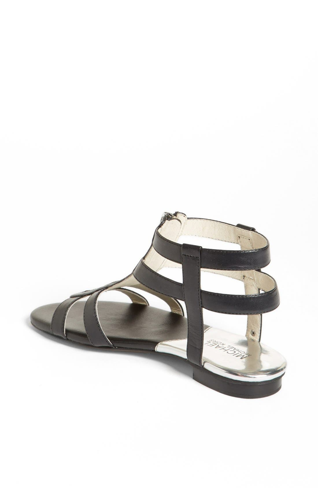 Alternate Image 2  - MICHAEL Michael Kors 'Kennedy' Flat Leather Gladiator Sandal